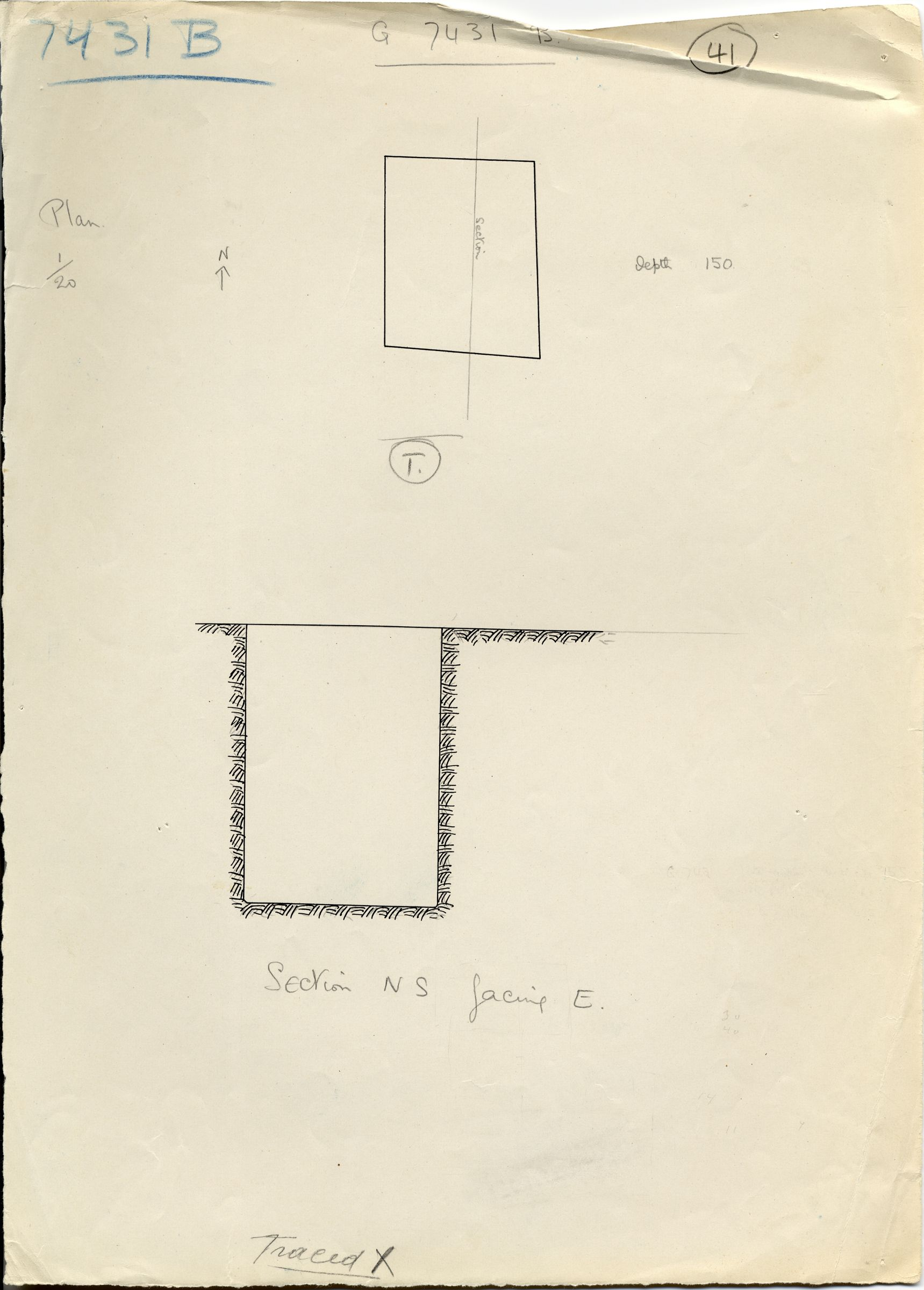 Maps and plans: G 7431, Shaft B