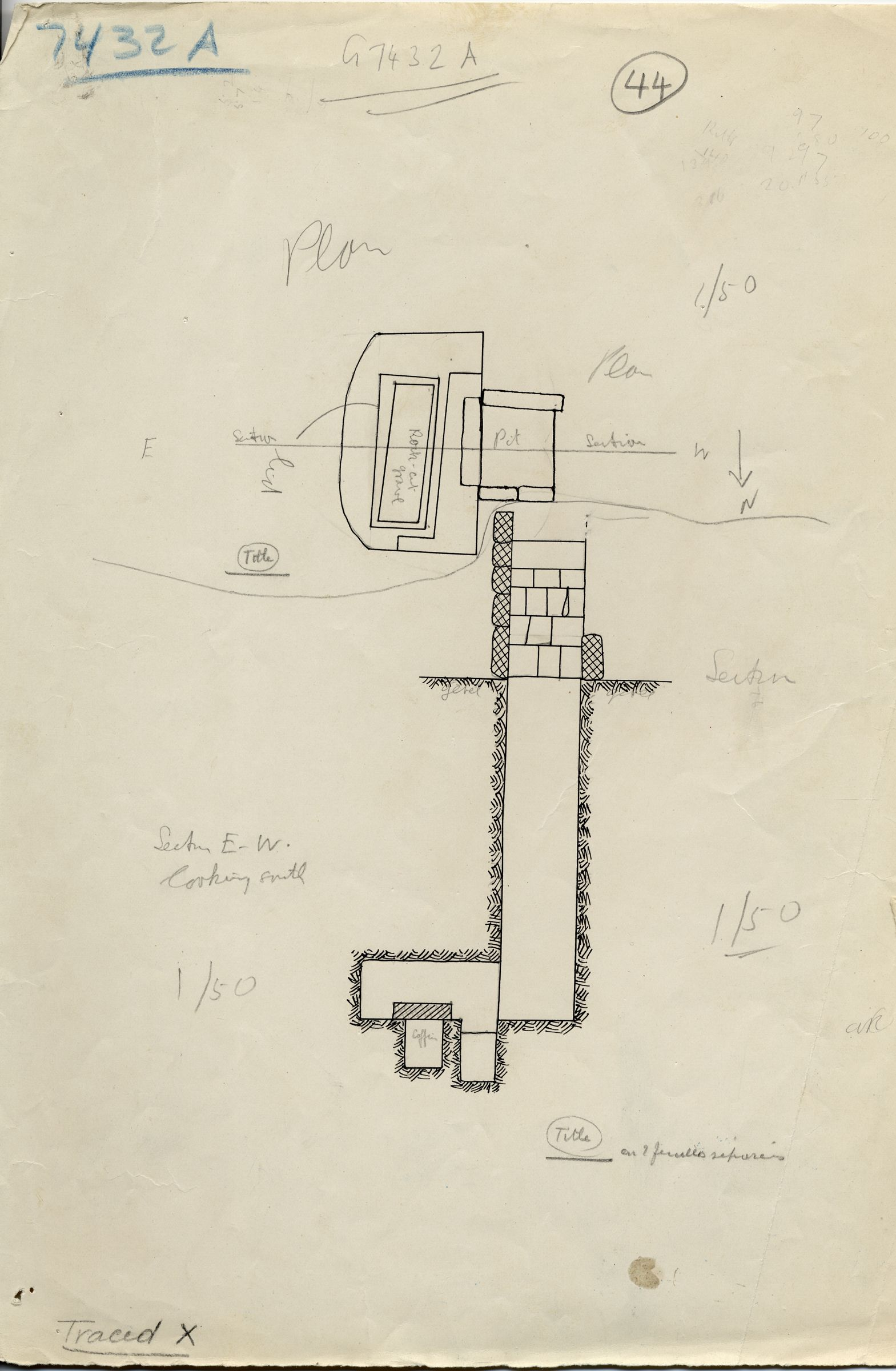 Maps and plans: G 7432, Shaft A