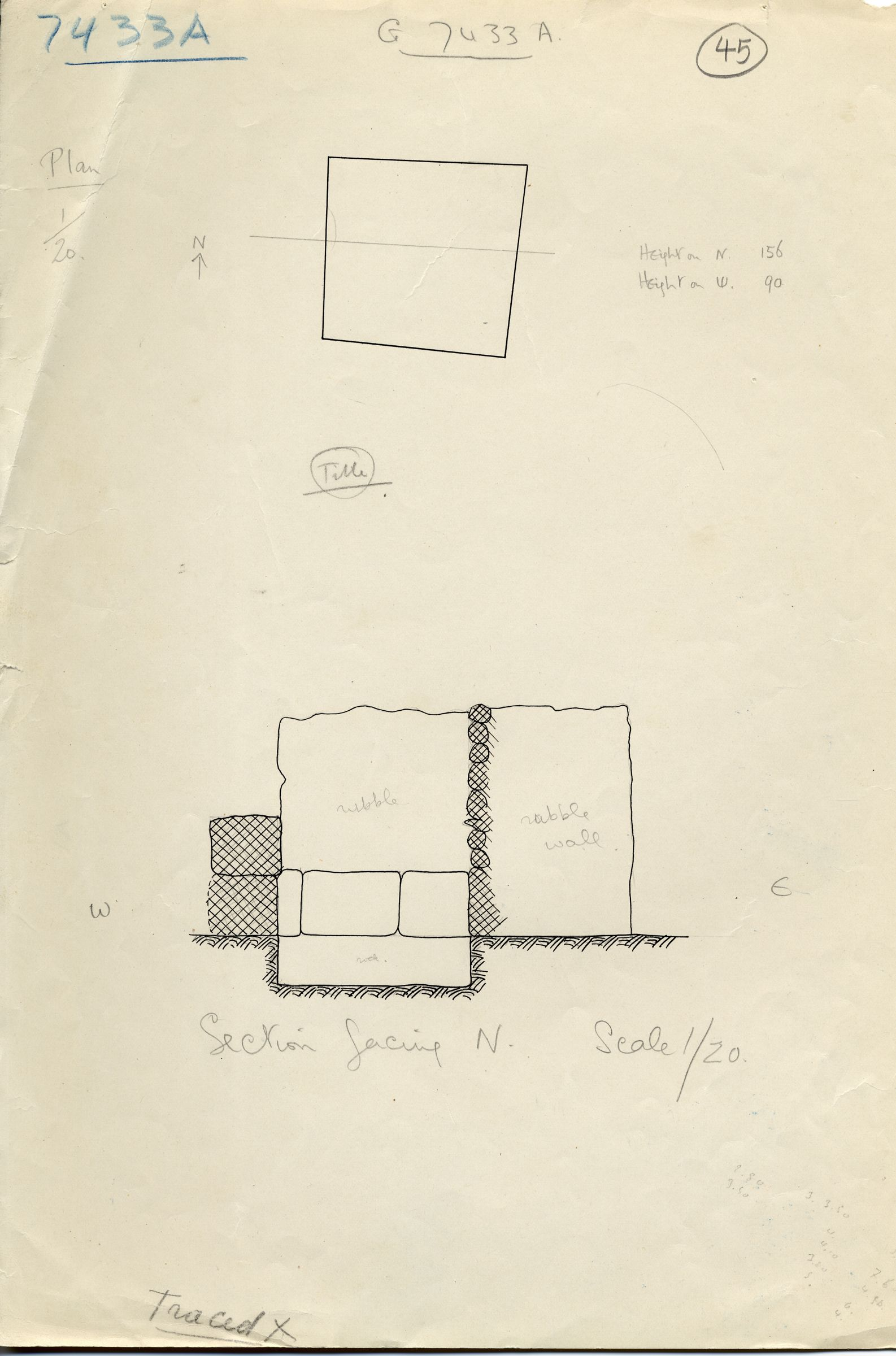 Maps and plans: G 7433, Shaft A