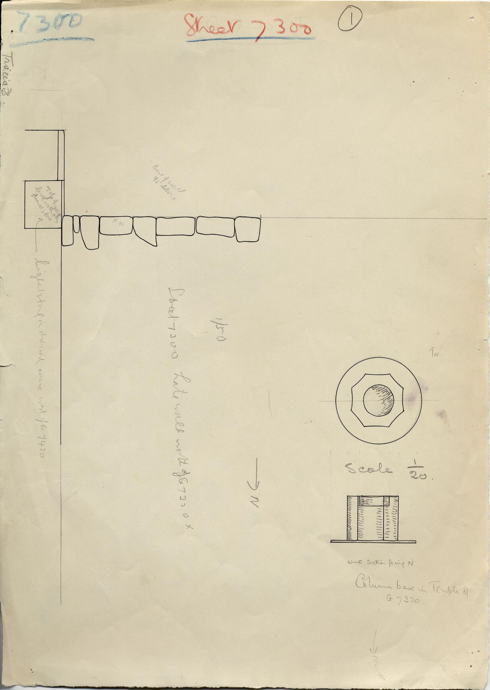 Maps and plans: G 7300 Pt i wall; G 7310-7320: G 7320 column base