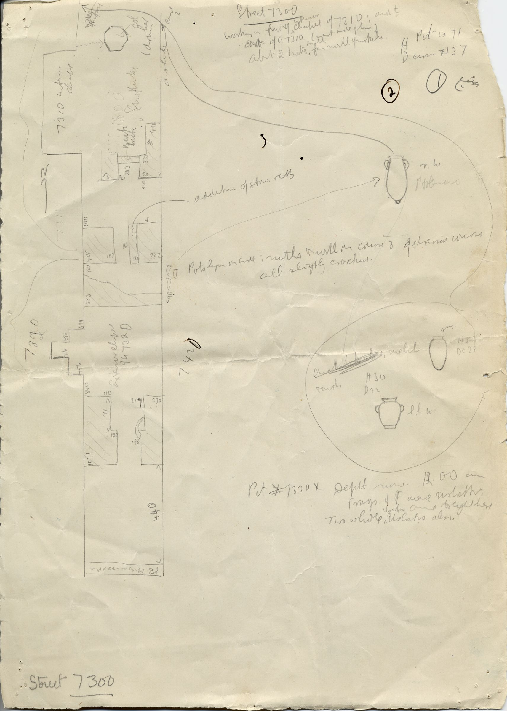 Maps and plans: Plan of Street G 7300, between G 7310-7320 and G 7410-7420