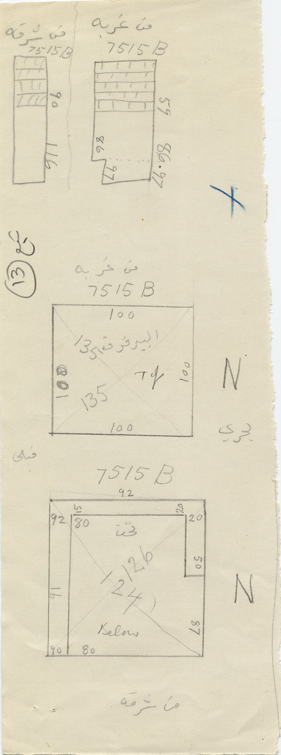 Maps and plans: G 7515, Shaft B