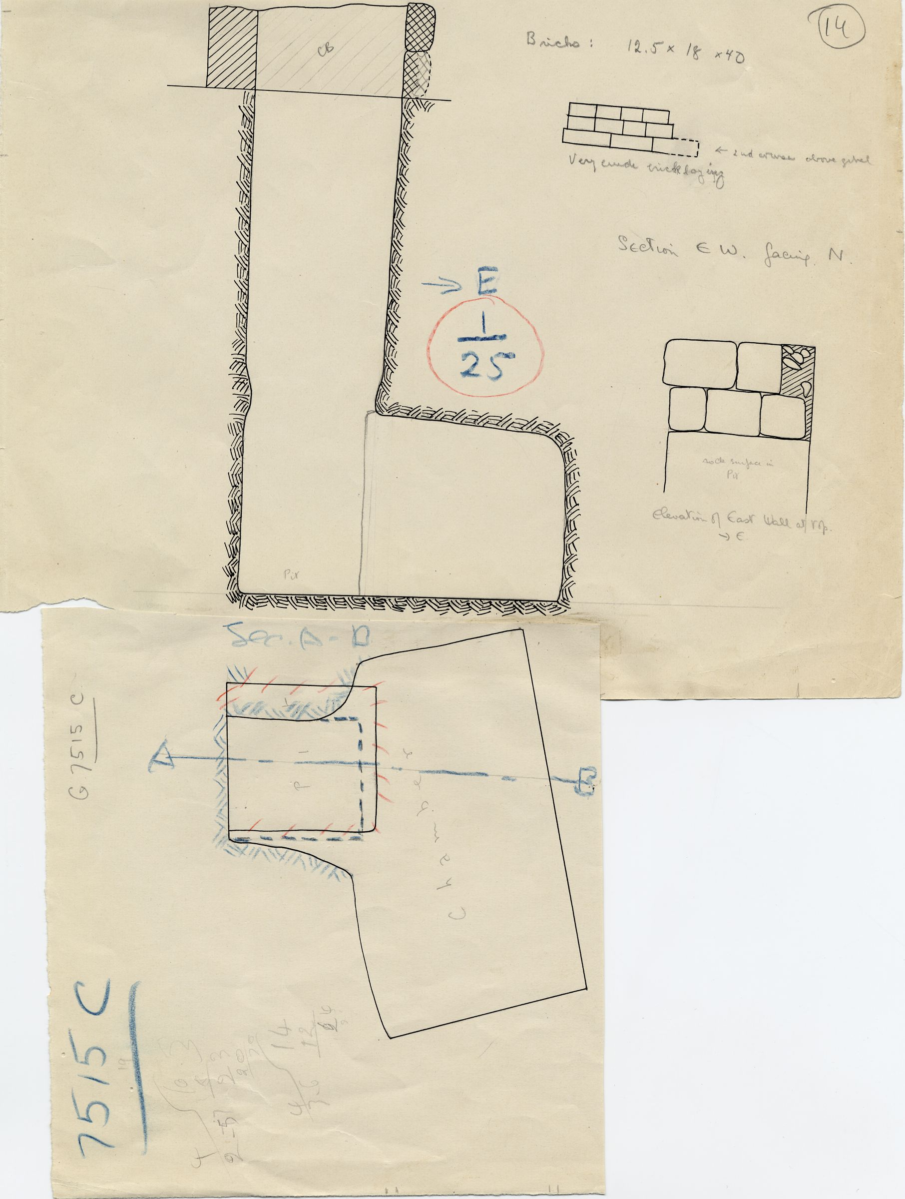 Maps and plans: G 7515, Shaft C