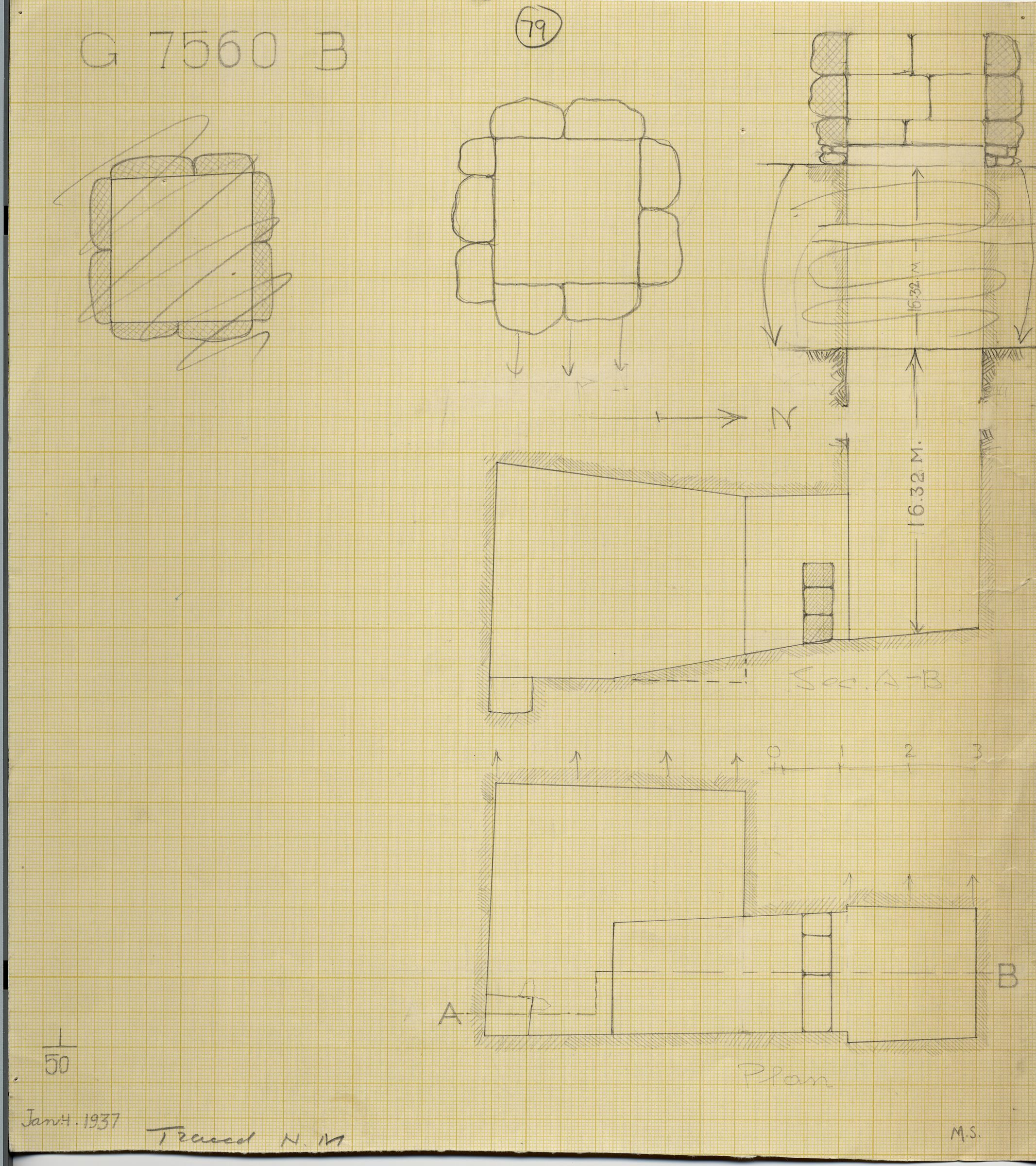 Maps and plans: G 7560, Shaft B