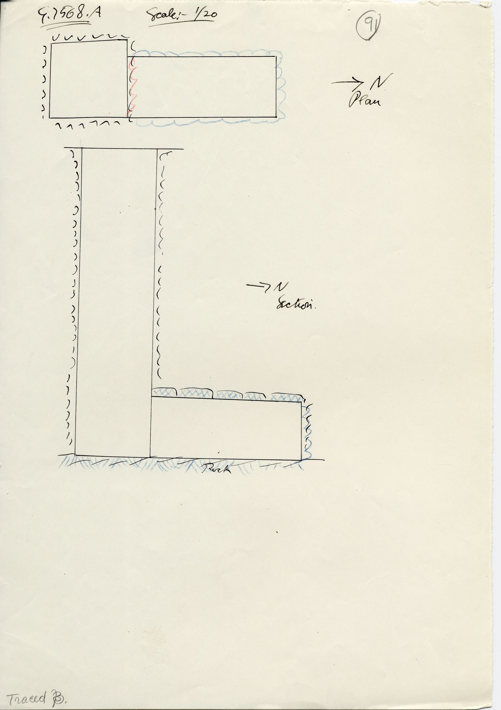 Maps and plans: G 7568, Shaft A