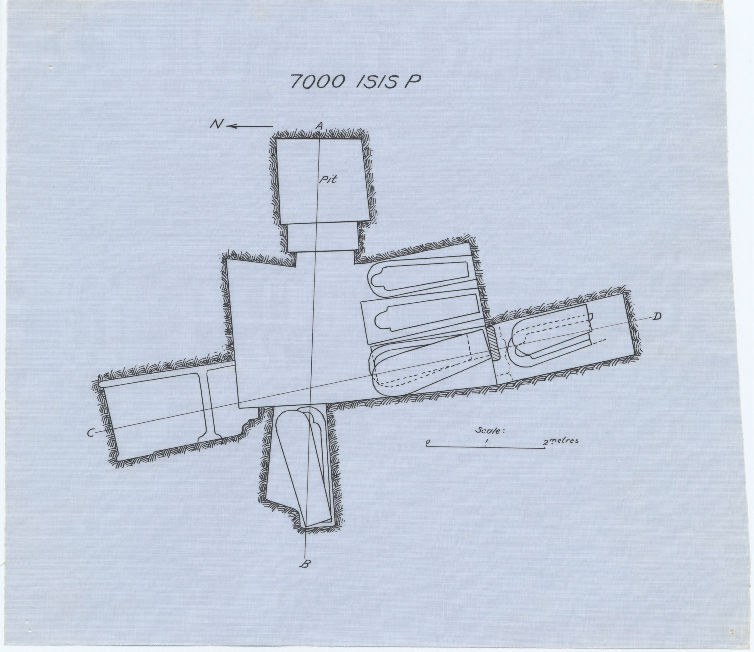 Maps and plans: Isis Temple, Pit P