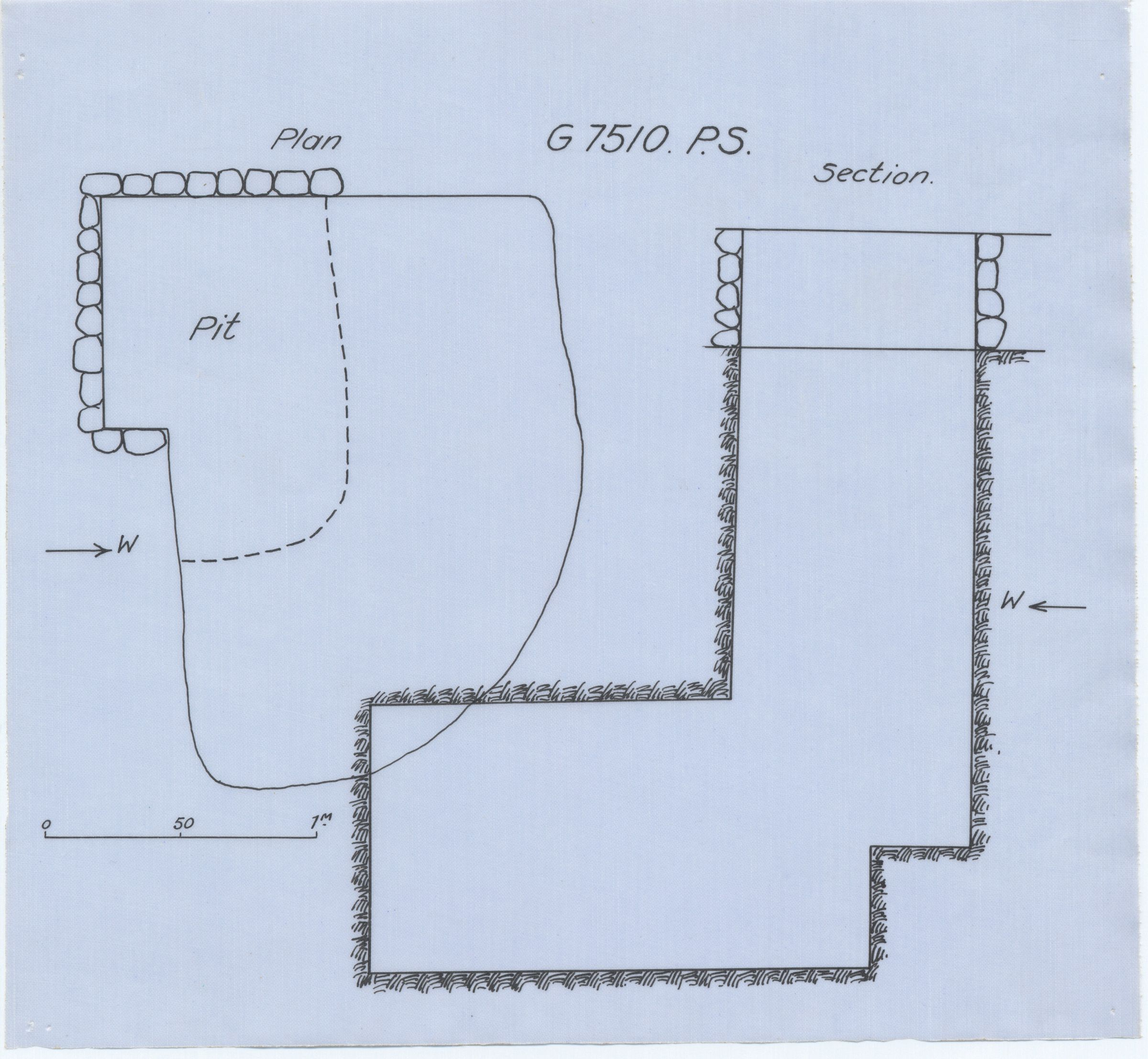 Maps and plans: G 7510, Shaft PS
