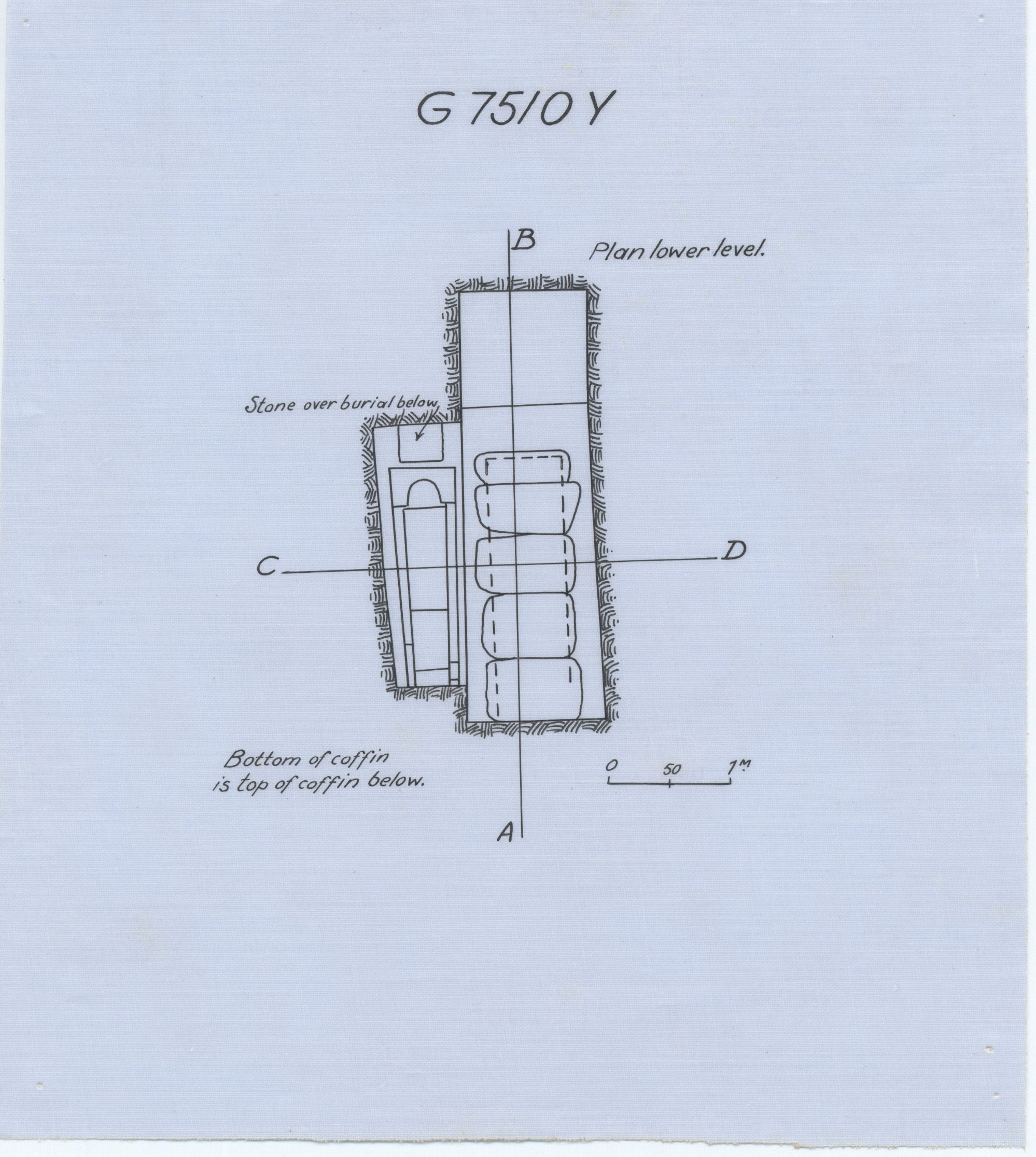 Maps and plans: G 7510, Shaft Y