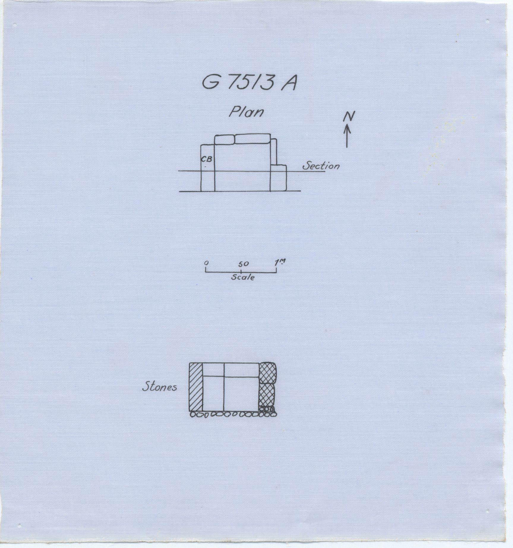Maps and plans: G 7513, Shaft A