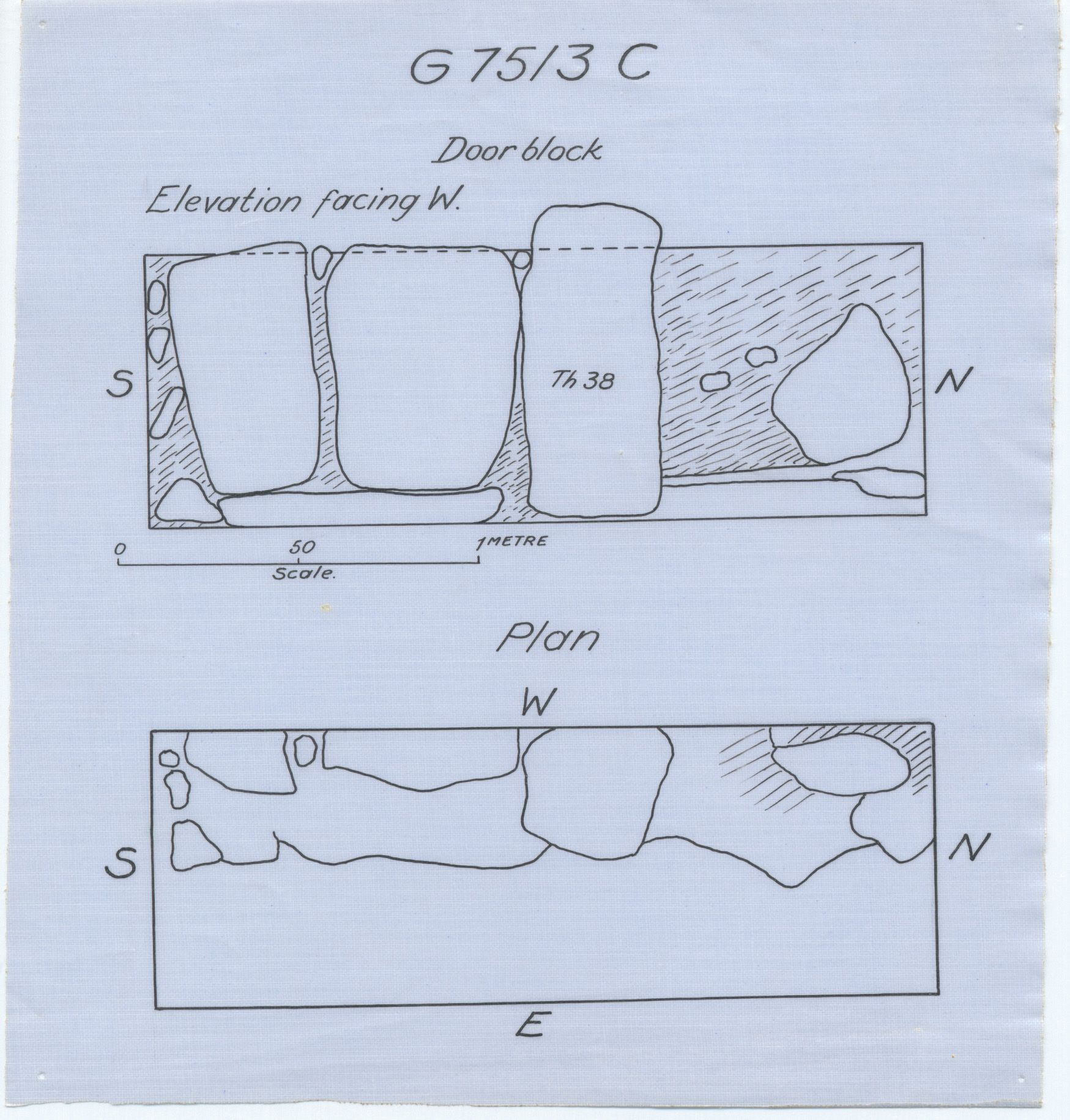 Maps and plans: G 7513, Shaft C
