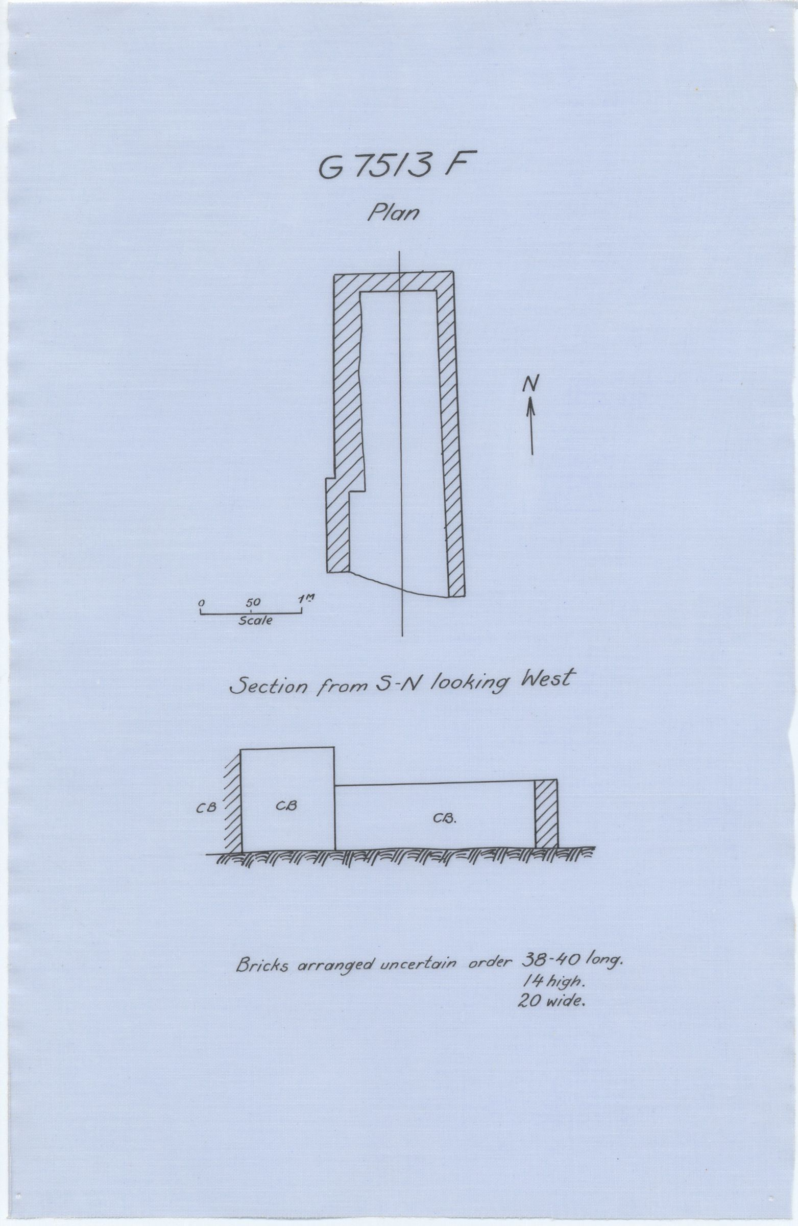 Maps and plans: G 7513, Shaft F