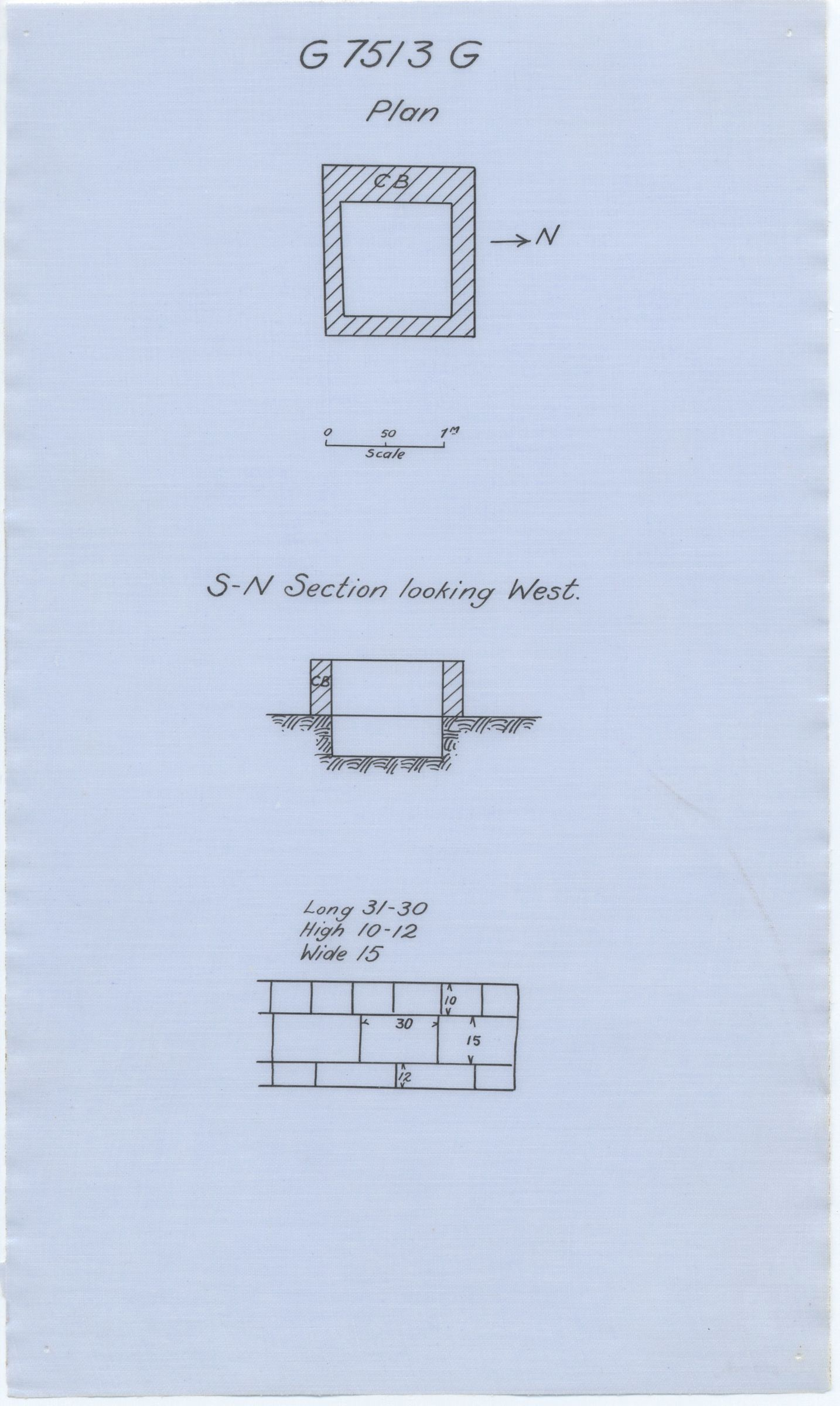Maps and plans: G 7513, Shaft G