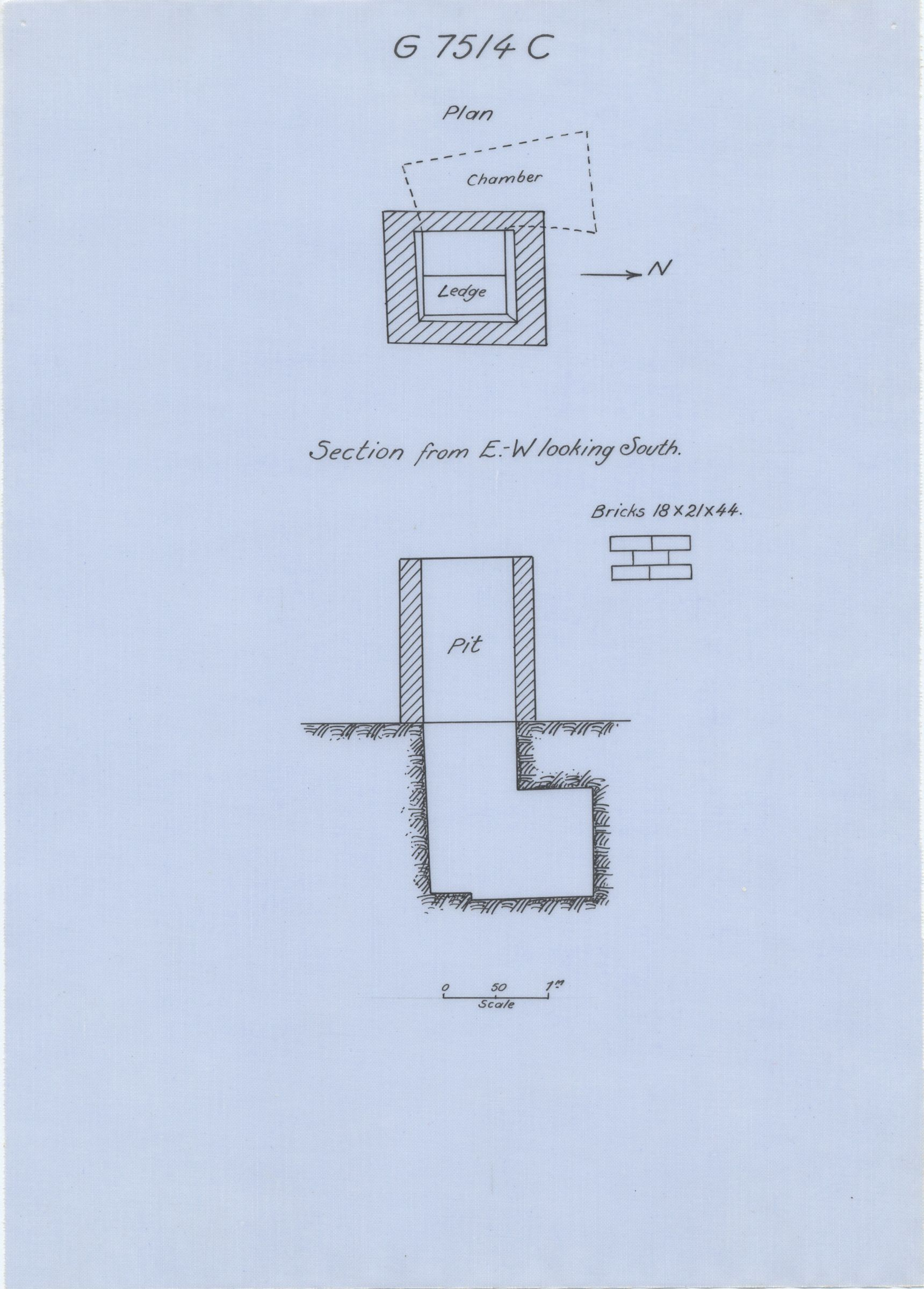 Maps and plans: G 7514, Shaft C