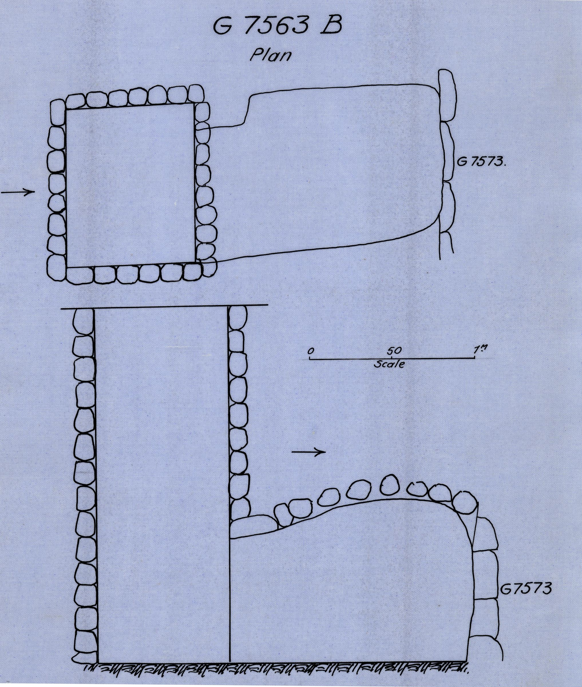 Maps and plans: G 7563, Shaft B
