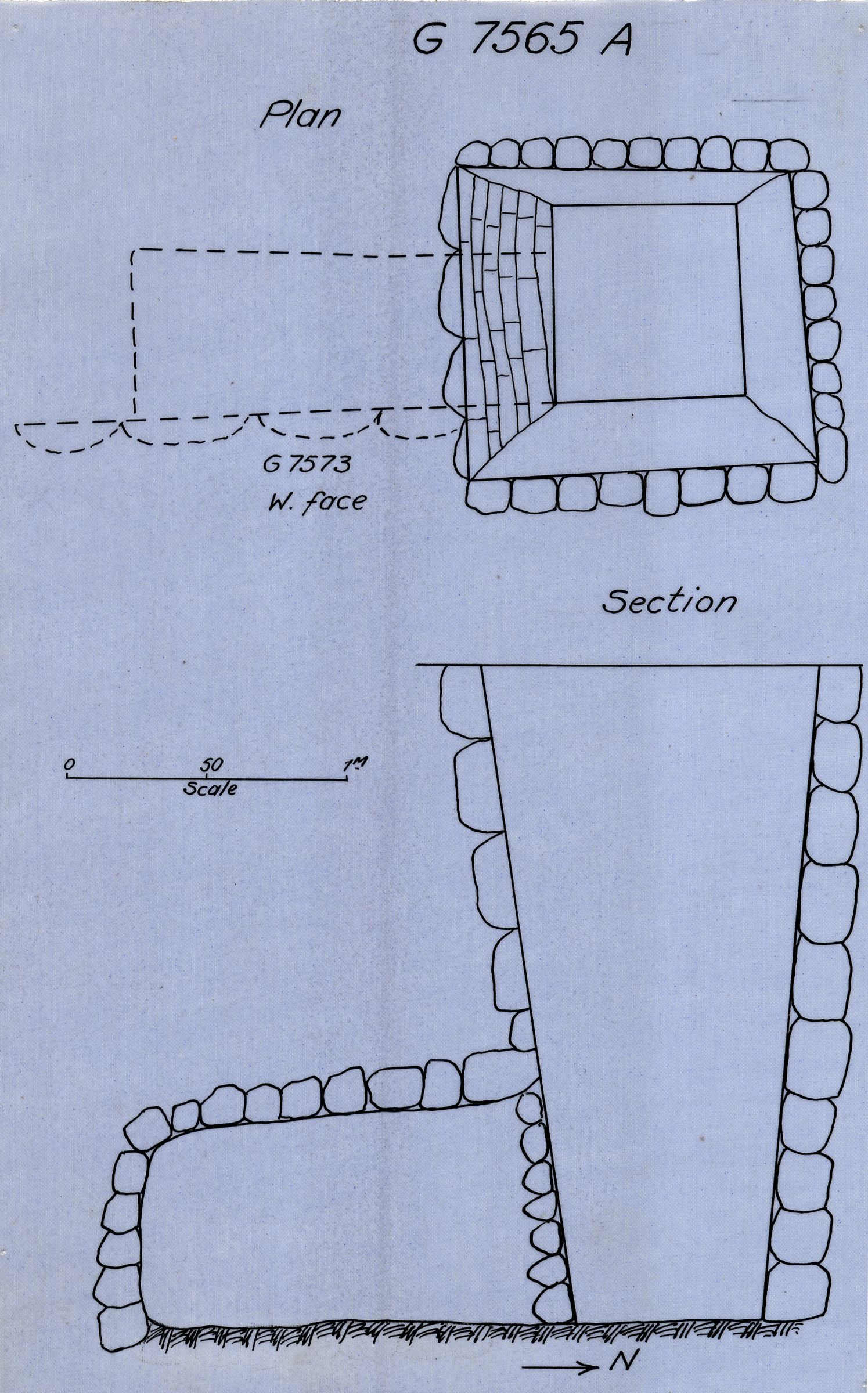 Maps and plans: G 7565, Shaft A