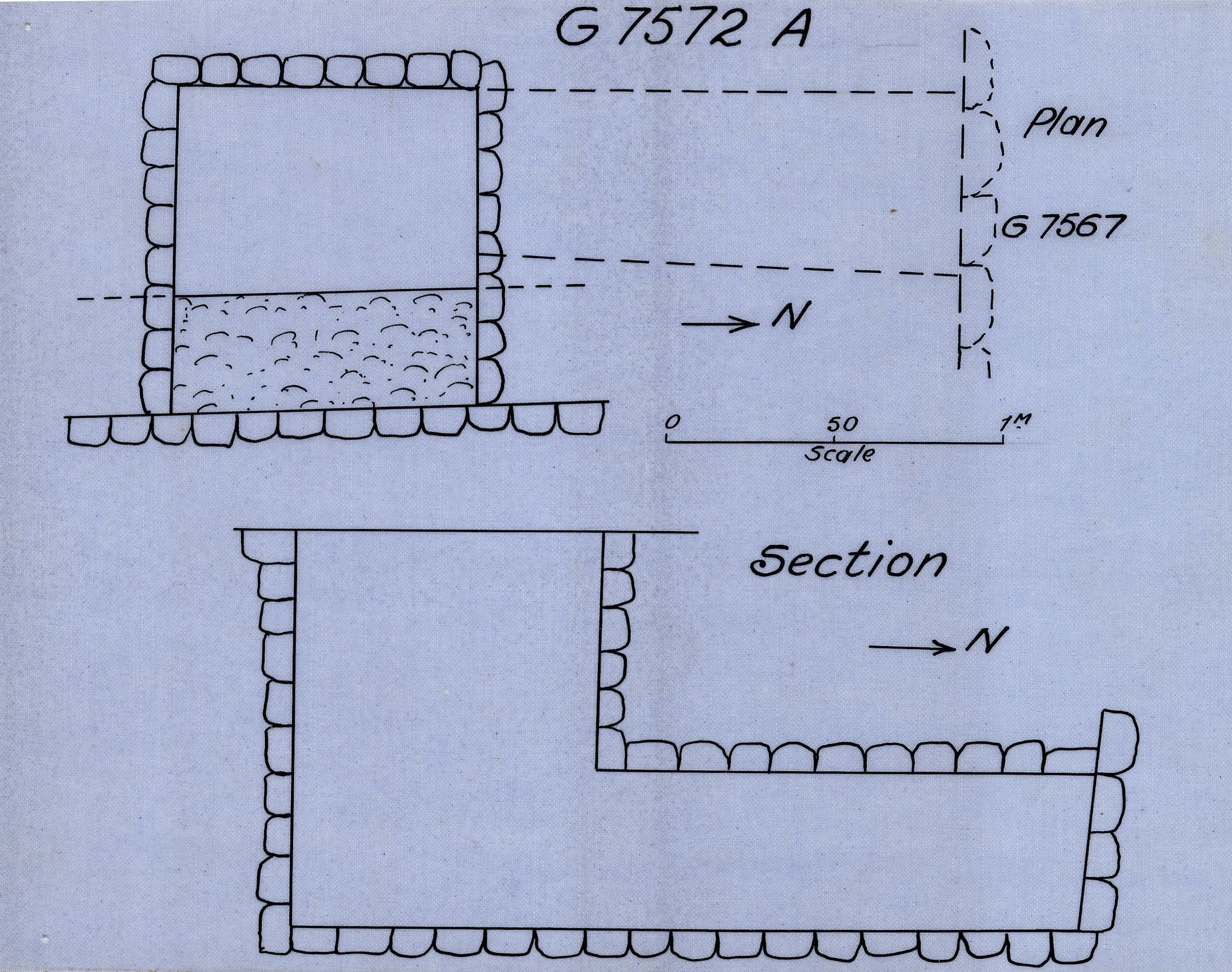 Maps and plans: G 7572, Shaft A