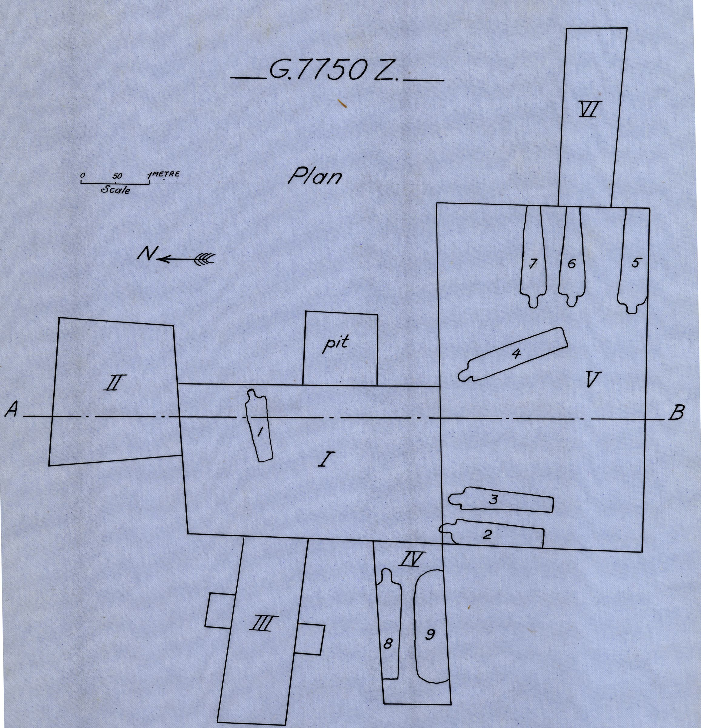 Maps and plans: G 7750, Shaft Z