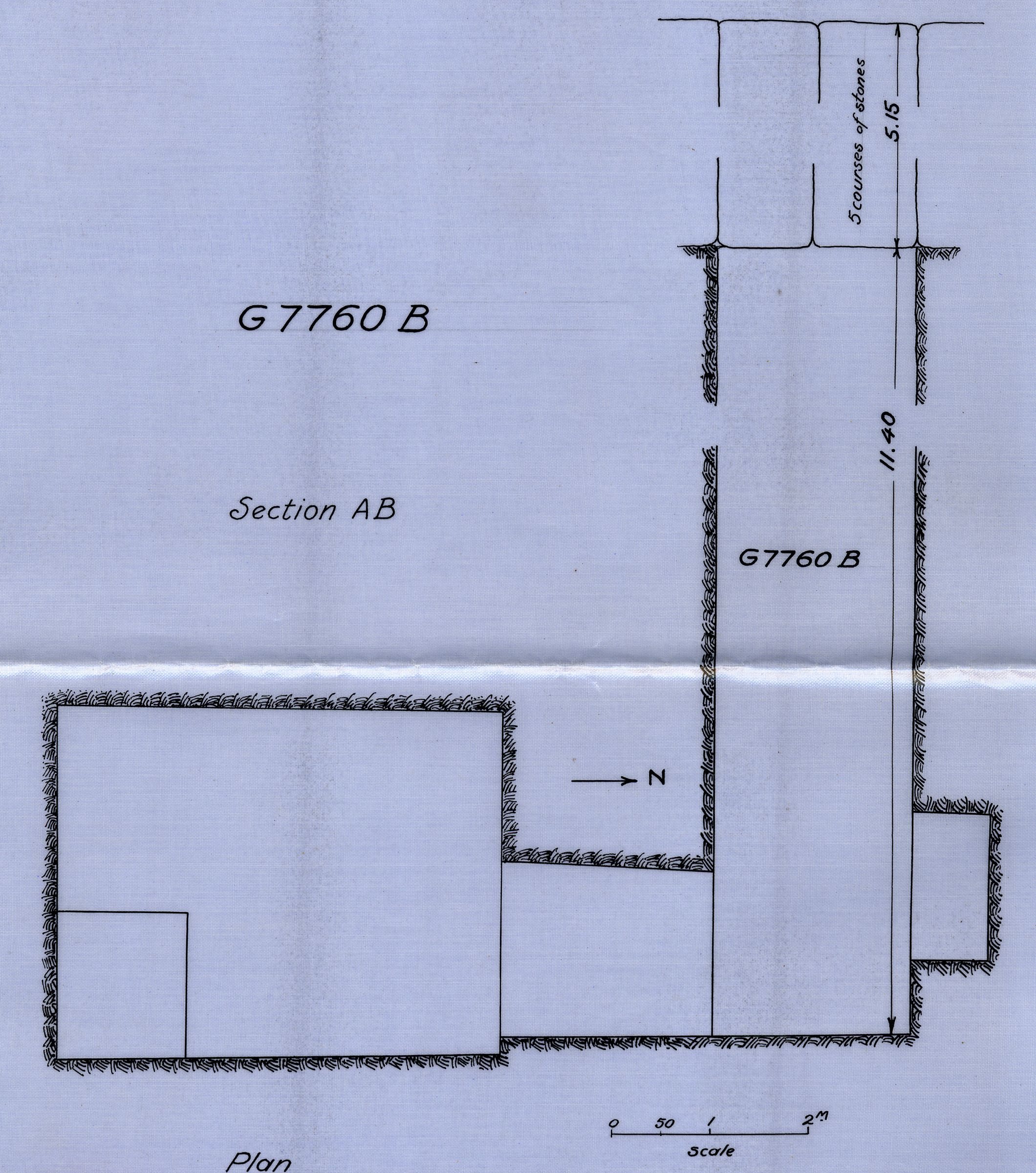 Maps and plans: G 7760, Shaft B