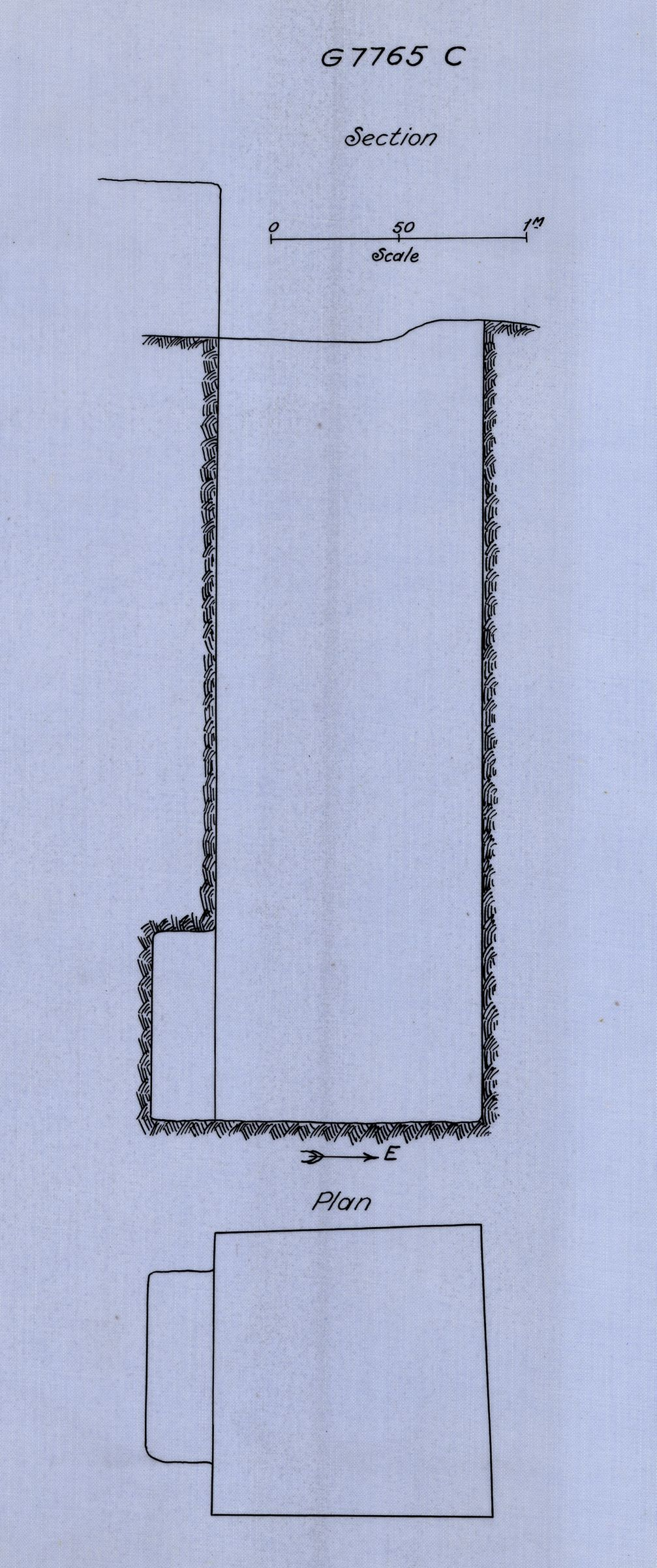 Maps and plans: G 7765, Shaft C