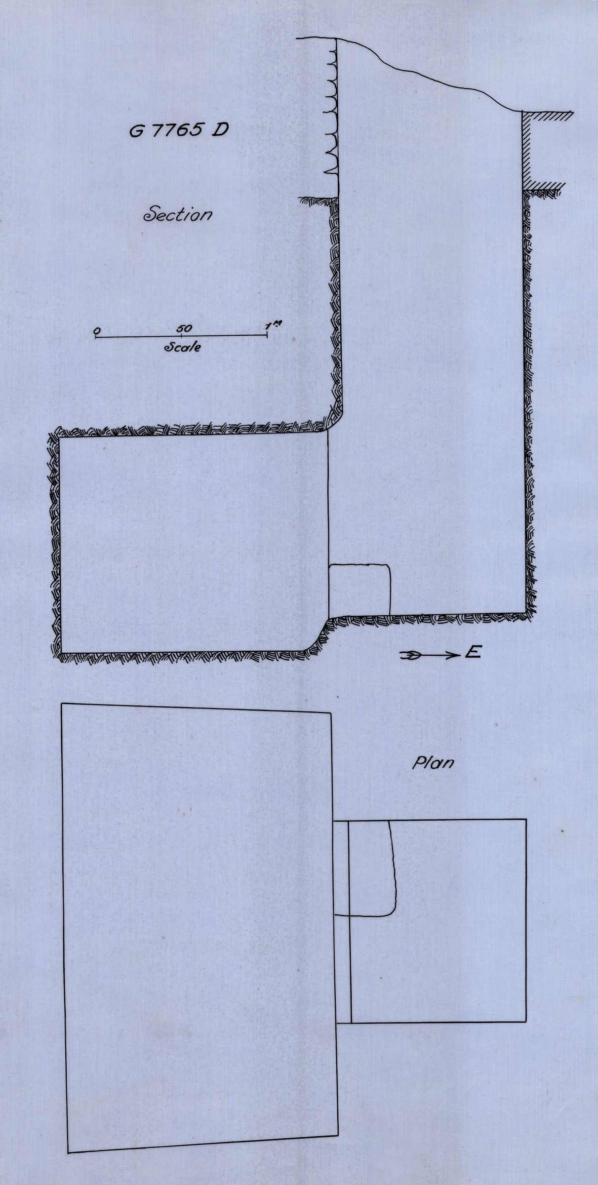 Maps and plans: G 7765, Shaft D