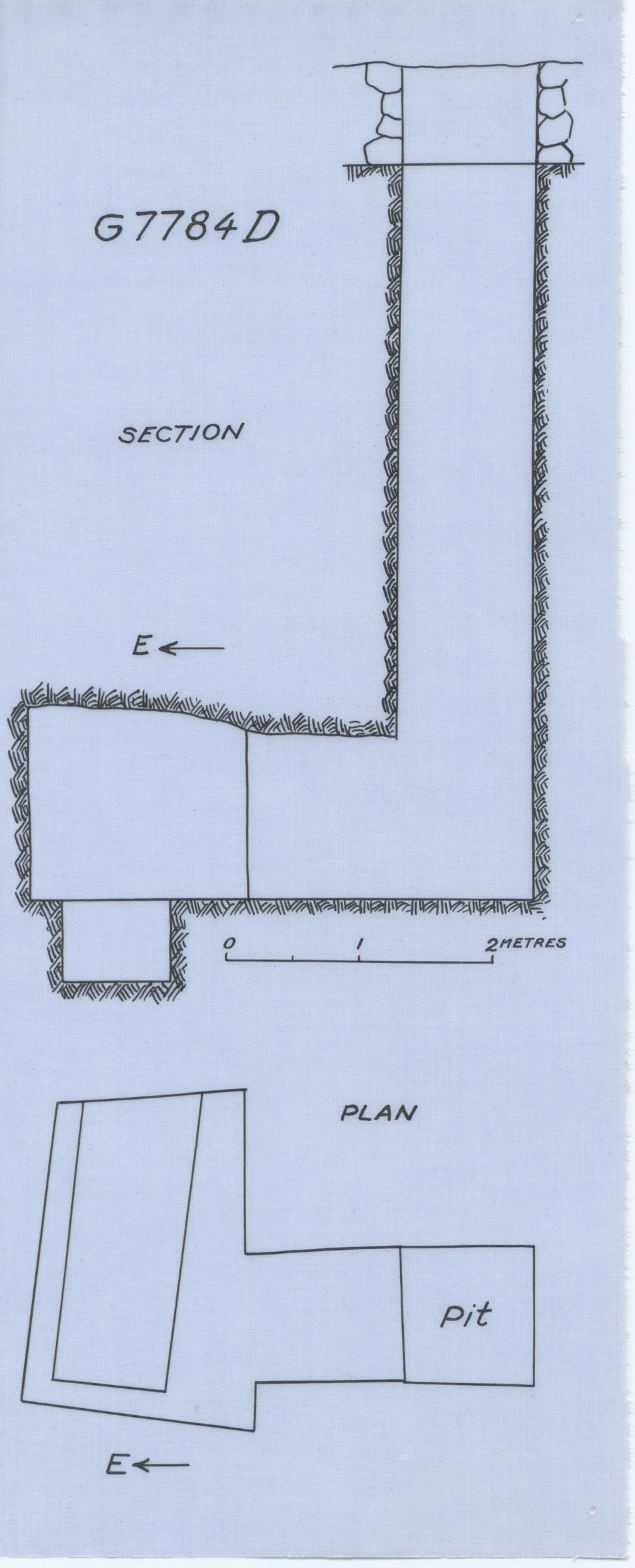 Maps and plans: G 7784, Shaft D