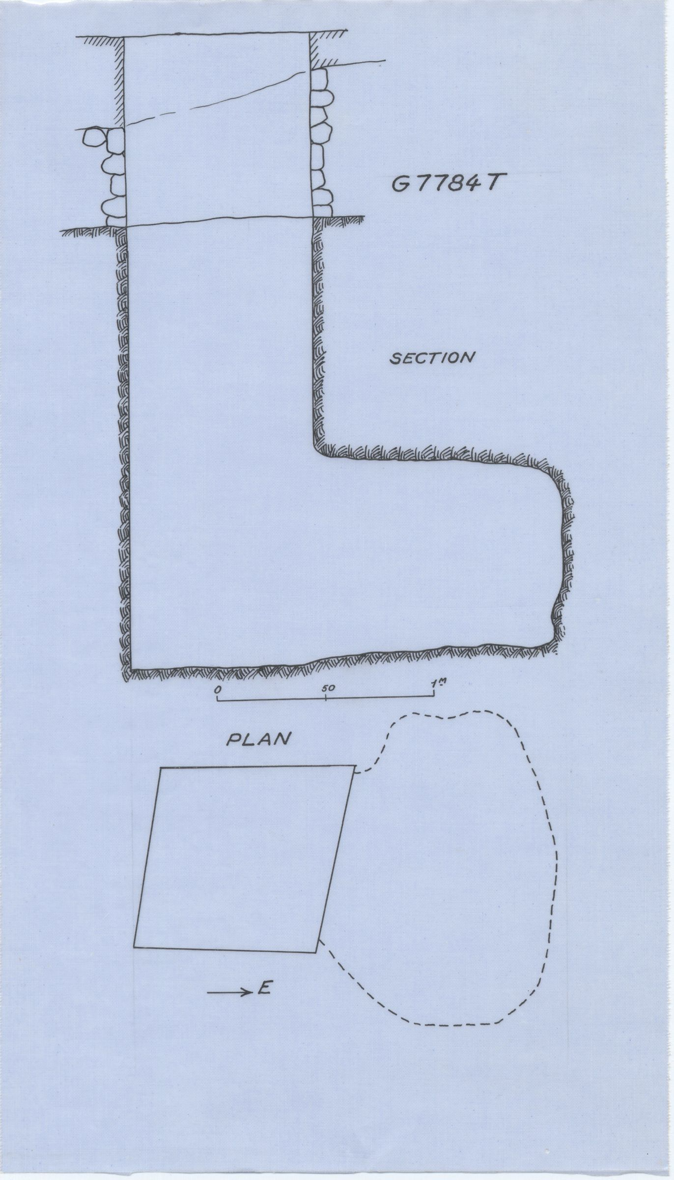 Maps and plans: G 7784, Shaft T