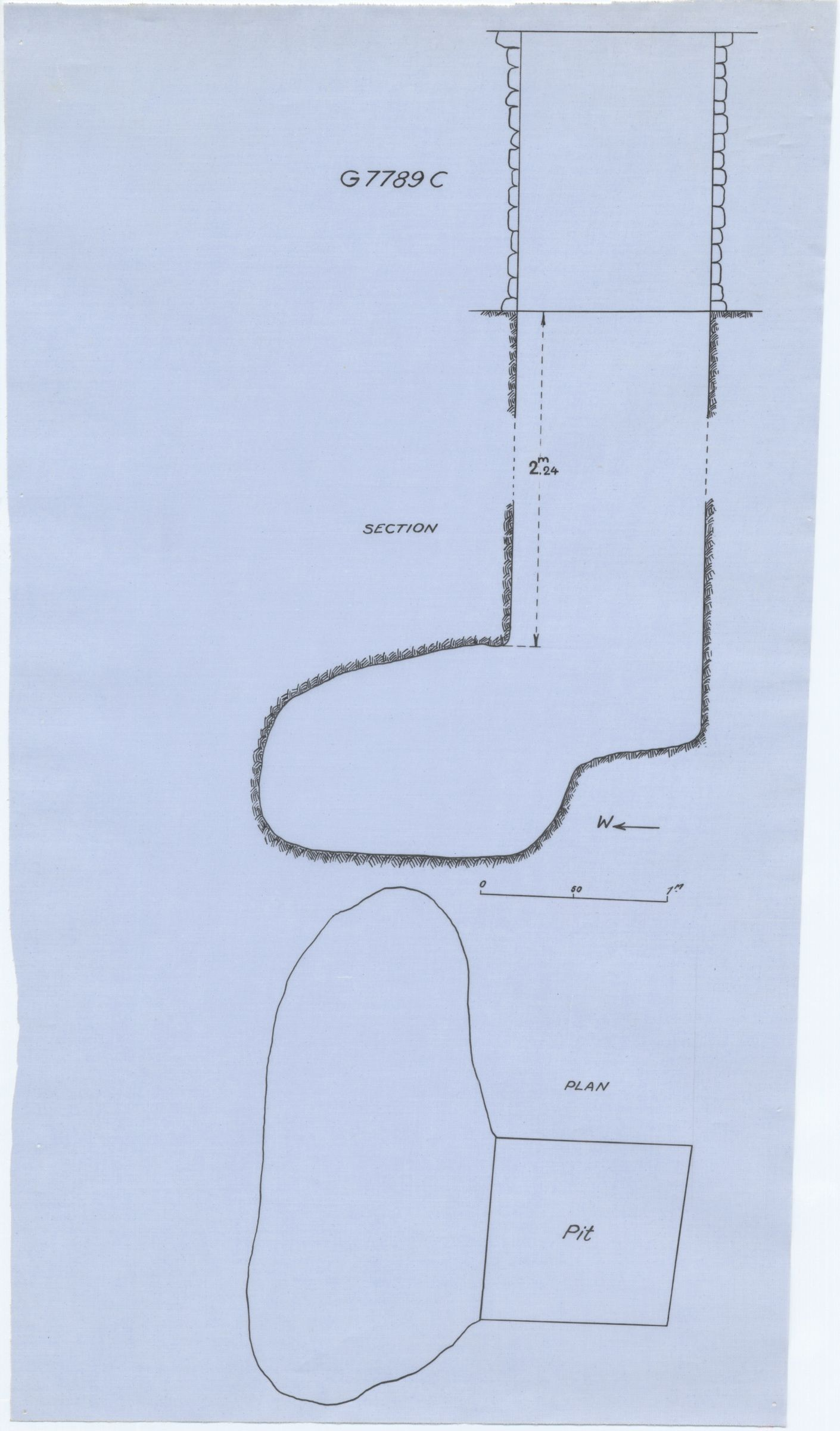 Maps and plans: G 7789, Shaft C
