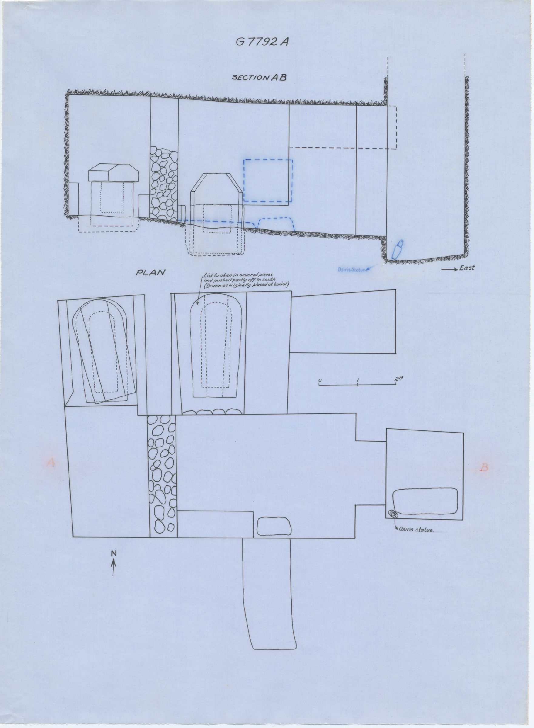 Maps and plans: G 7792, Shaft A