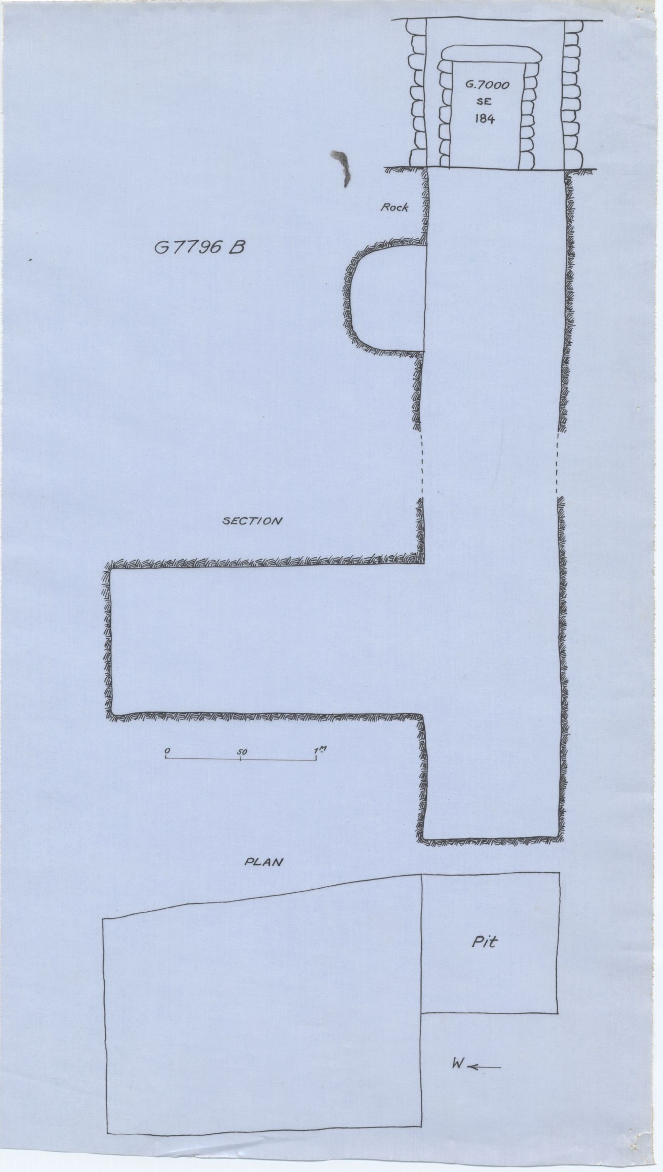 Maps and plans: G 7796, Shaft B