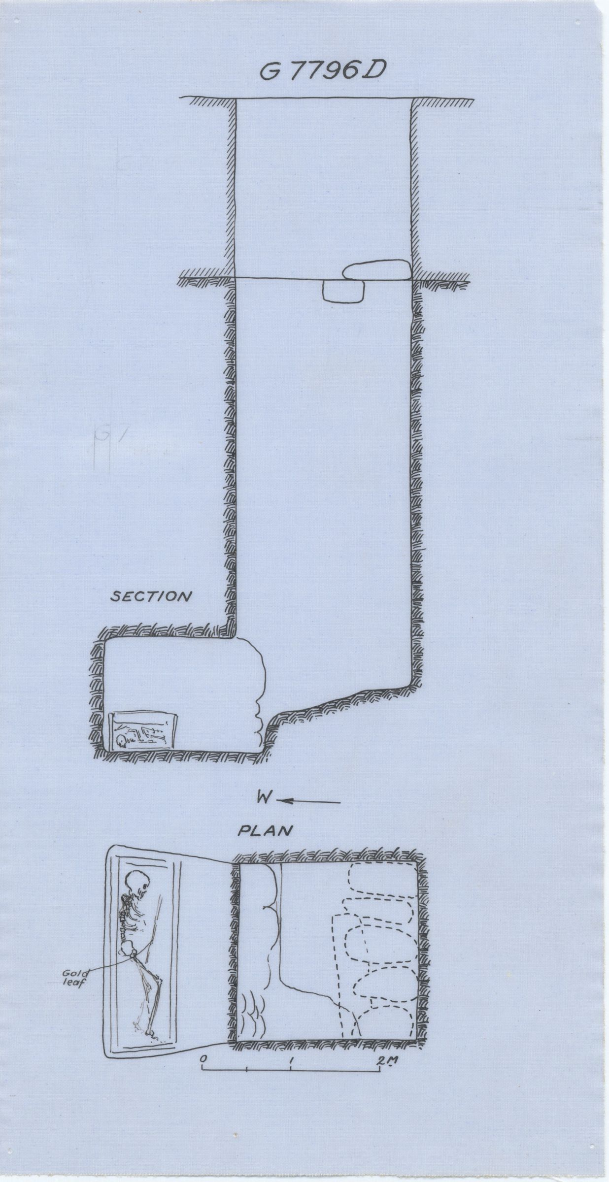 Maps and plans: G 7796, Shaft D