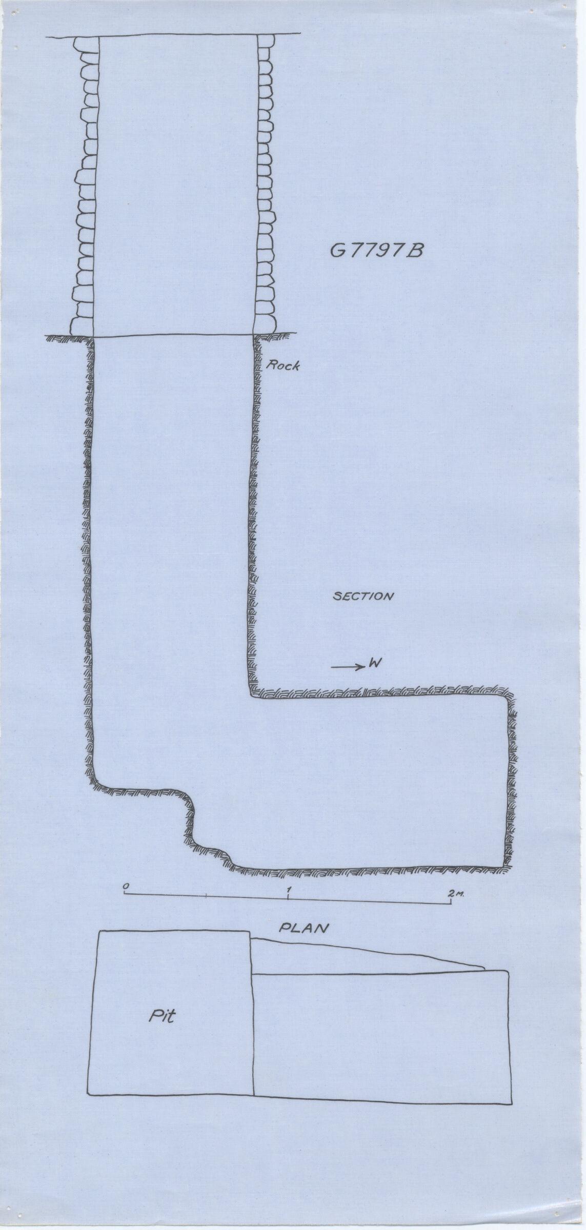 Maps and plans: G 7797b, Shaft B
