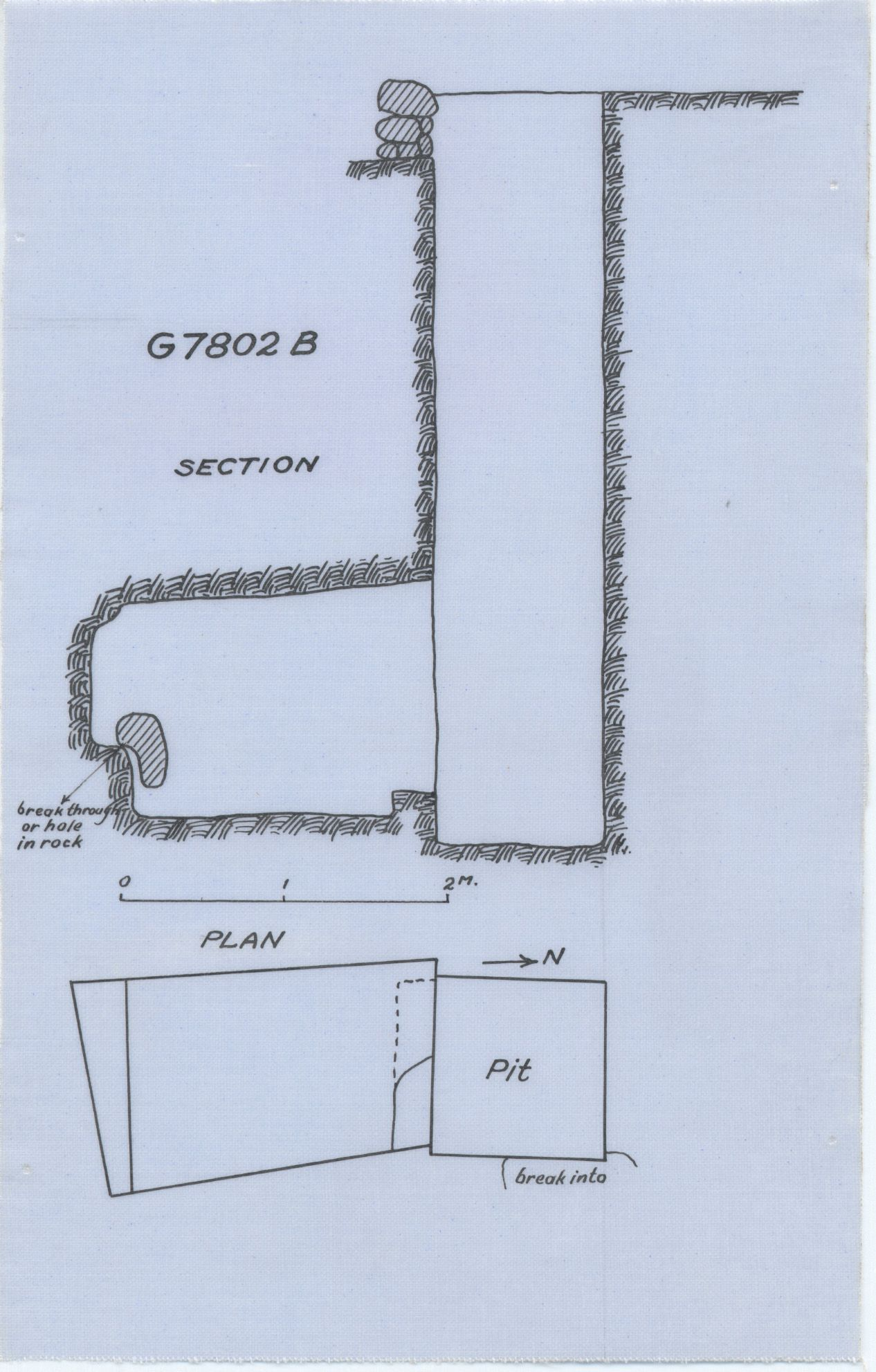 Maps and plans: G 7802, Shaft B