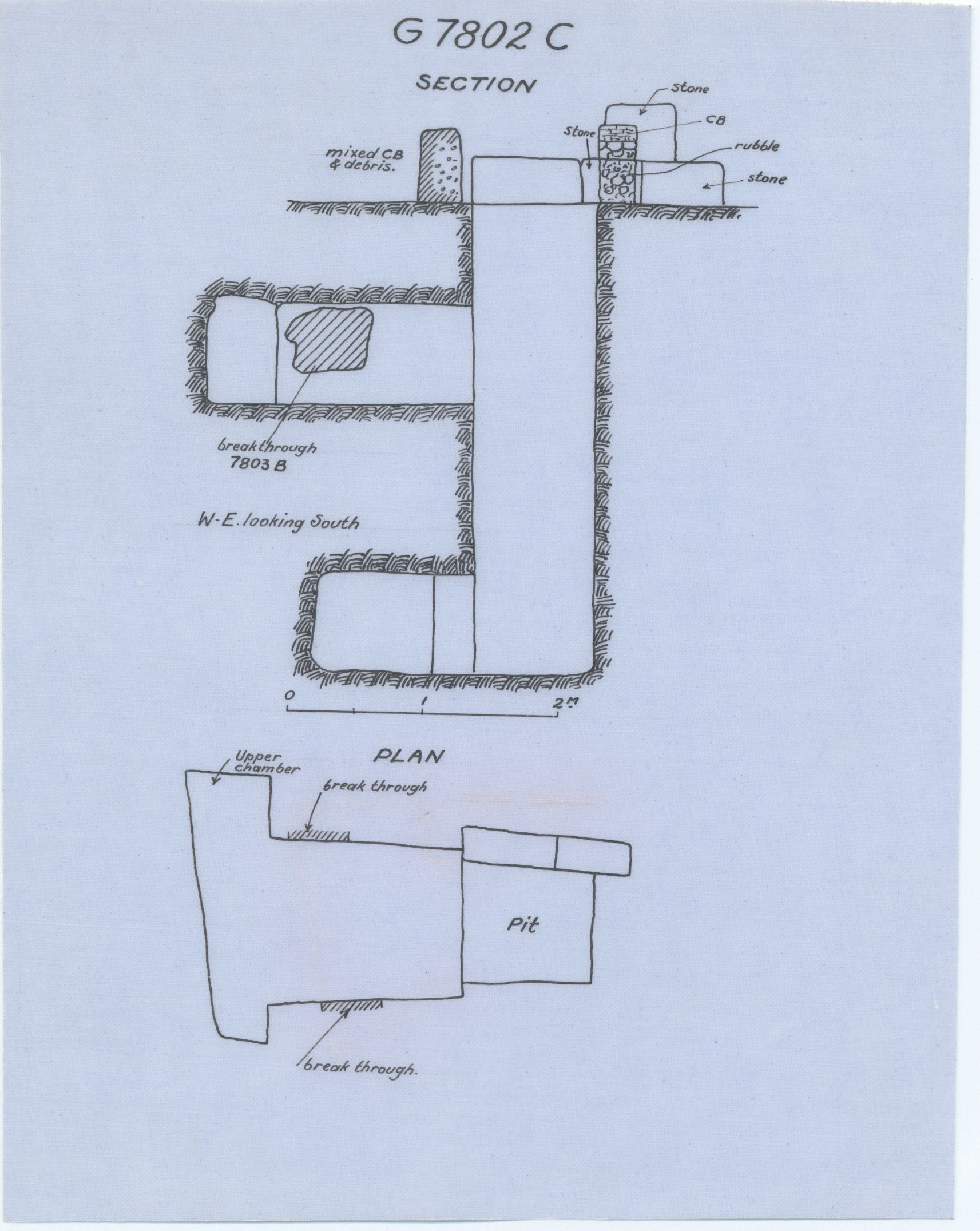 Maps and plans: G 7802, Shaft C