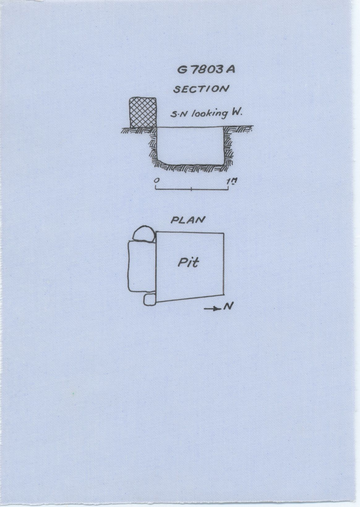 Maps and plans: G 7803, Shaft A