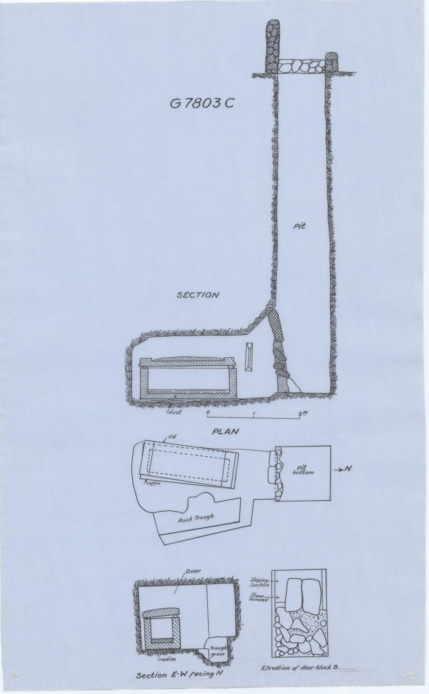 Maps and plans: G 7803, Shaft C