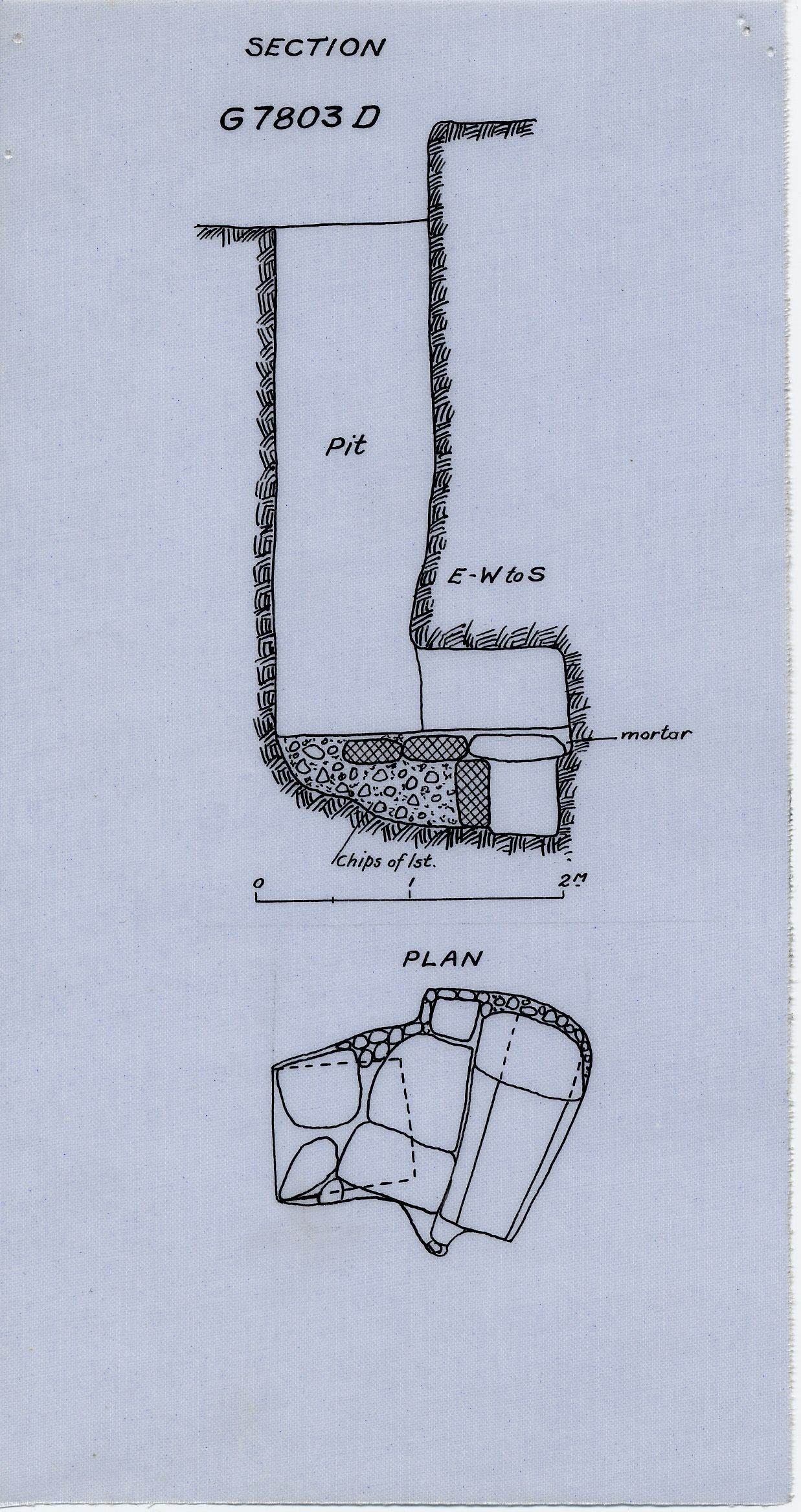 Maps and plans: G 7803, Shaft D