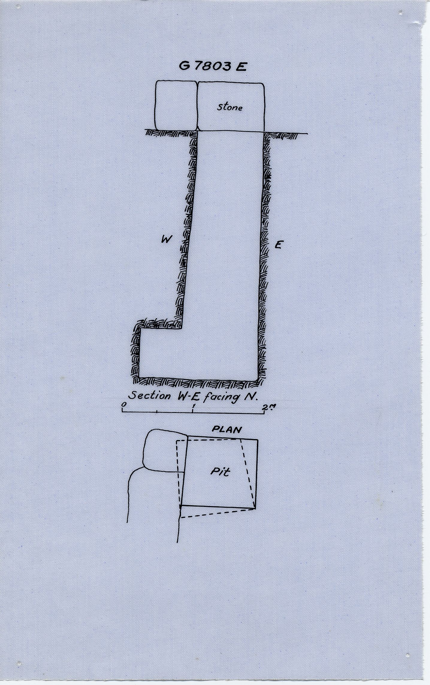 Maps and plans: G 7803, Shaft E