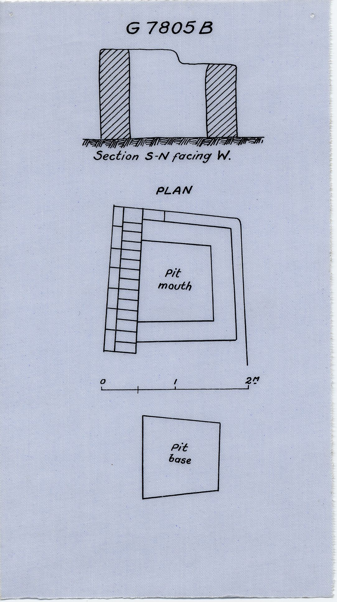 Maps and plans: G 7805, Shaft B
