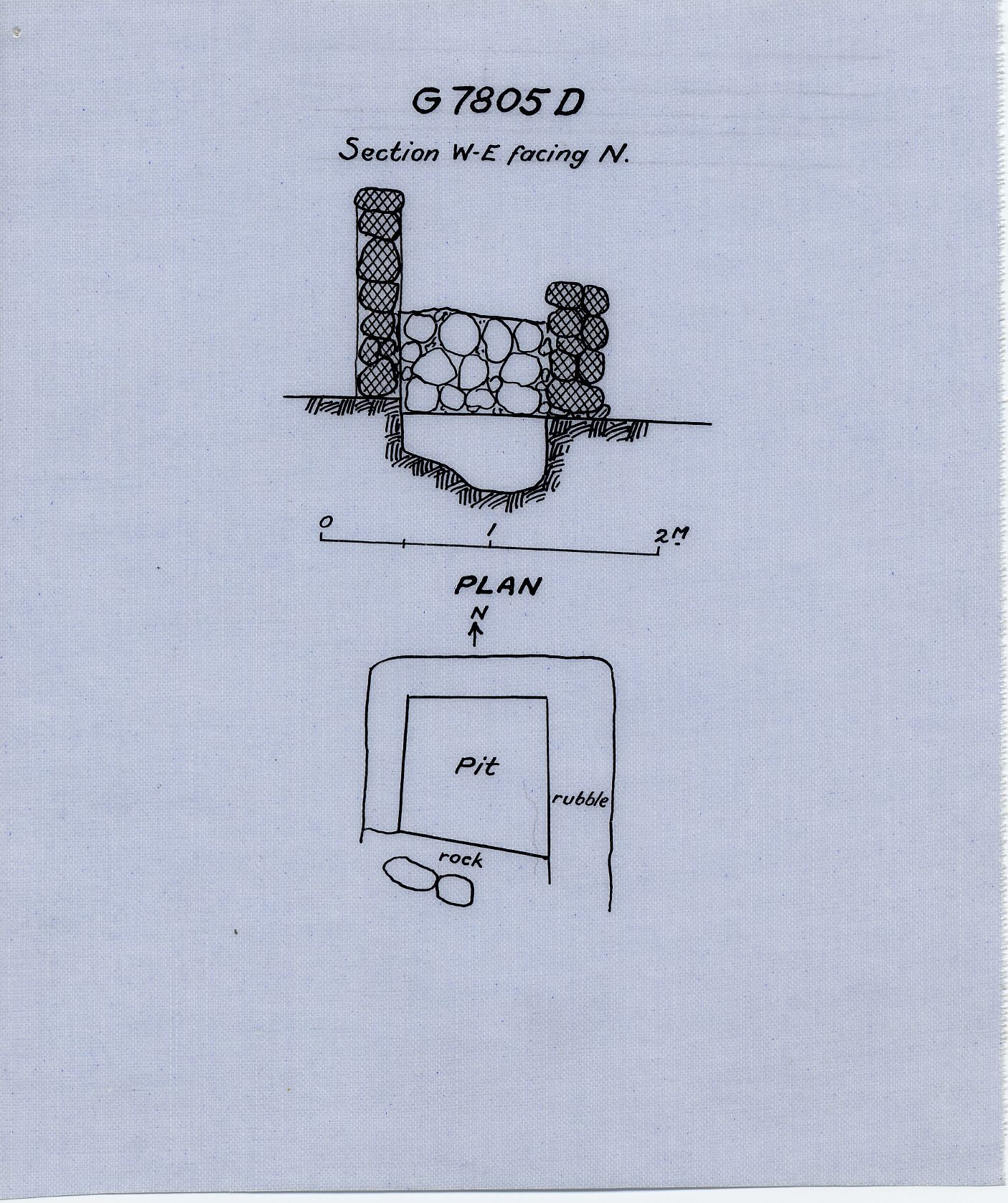 Maps and plans: G 7805, Shaft D