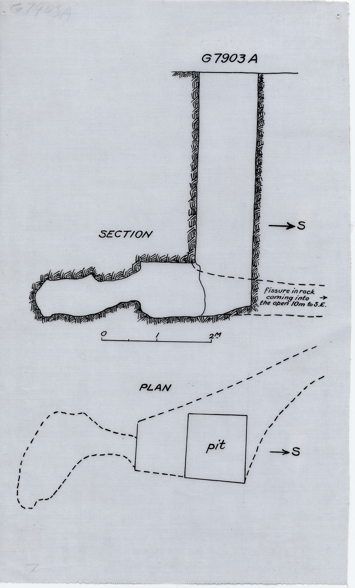 Maps and plans: G 7903, Shaft A