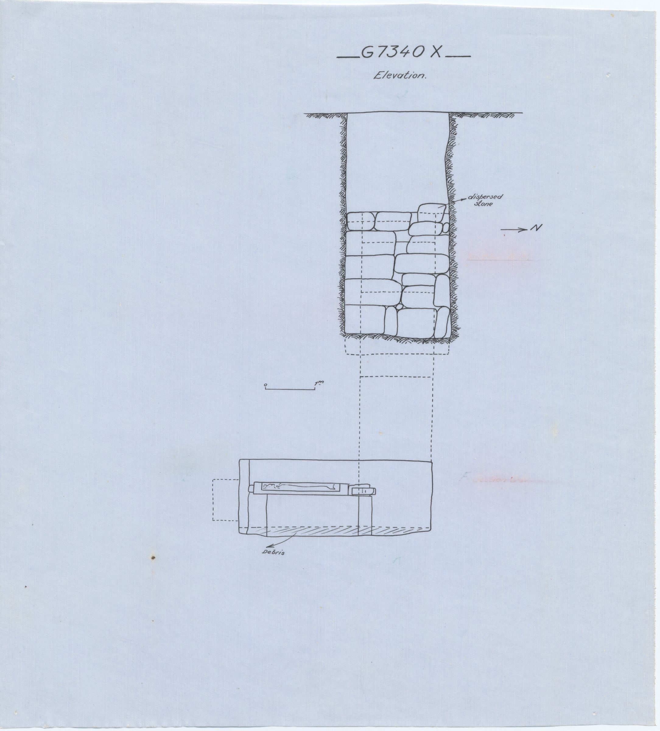 Maps and plans: G 7330-7340: G 7340, Shaft X