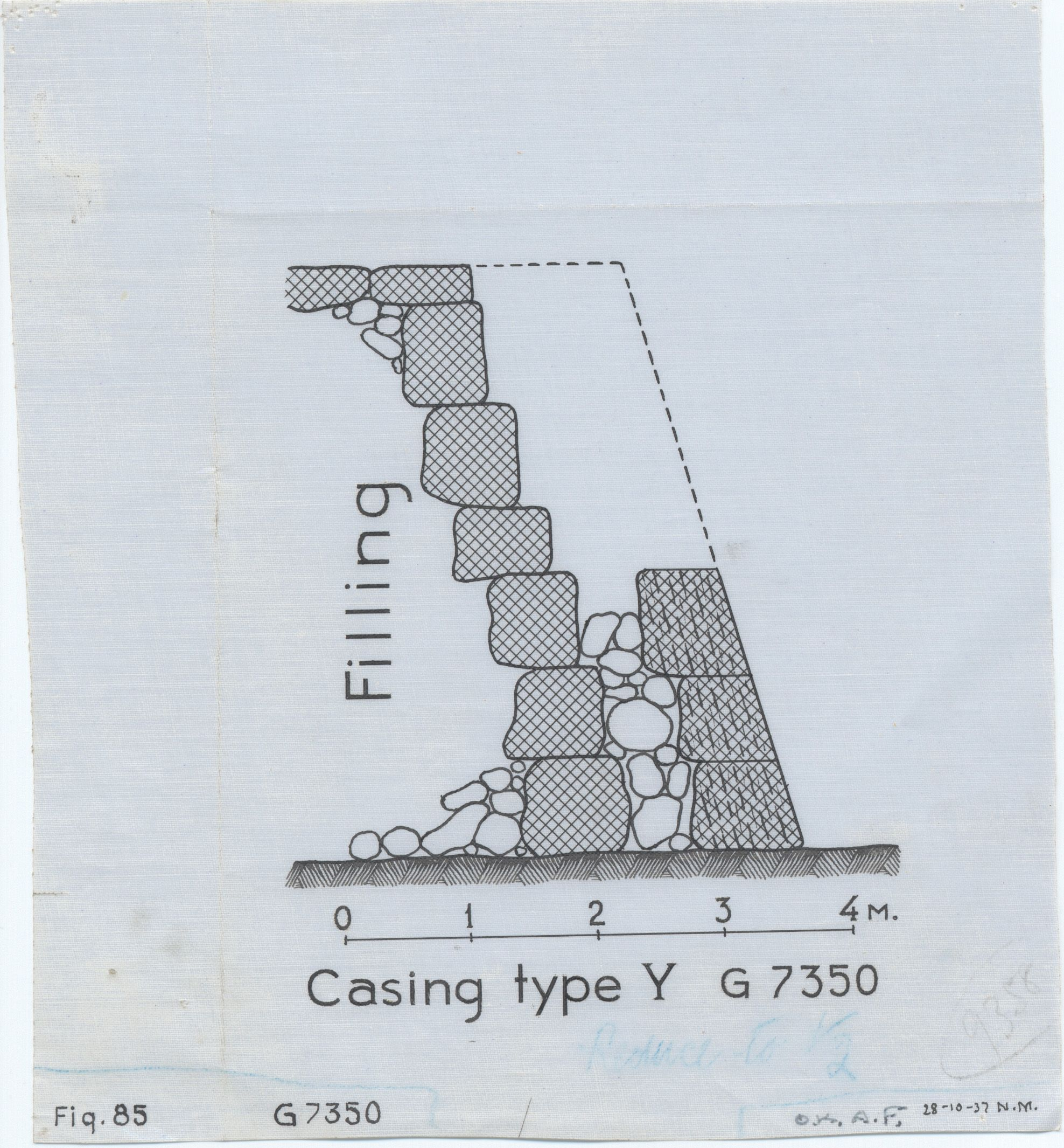 Maps and plans: G 7350, Section of casing type Y