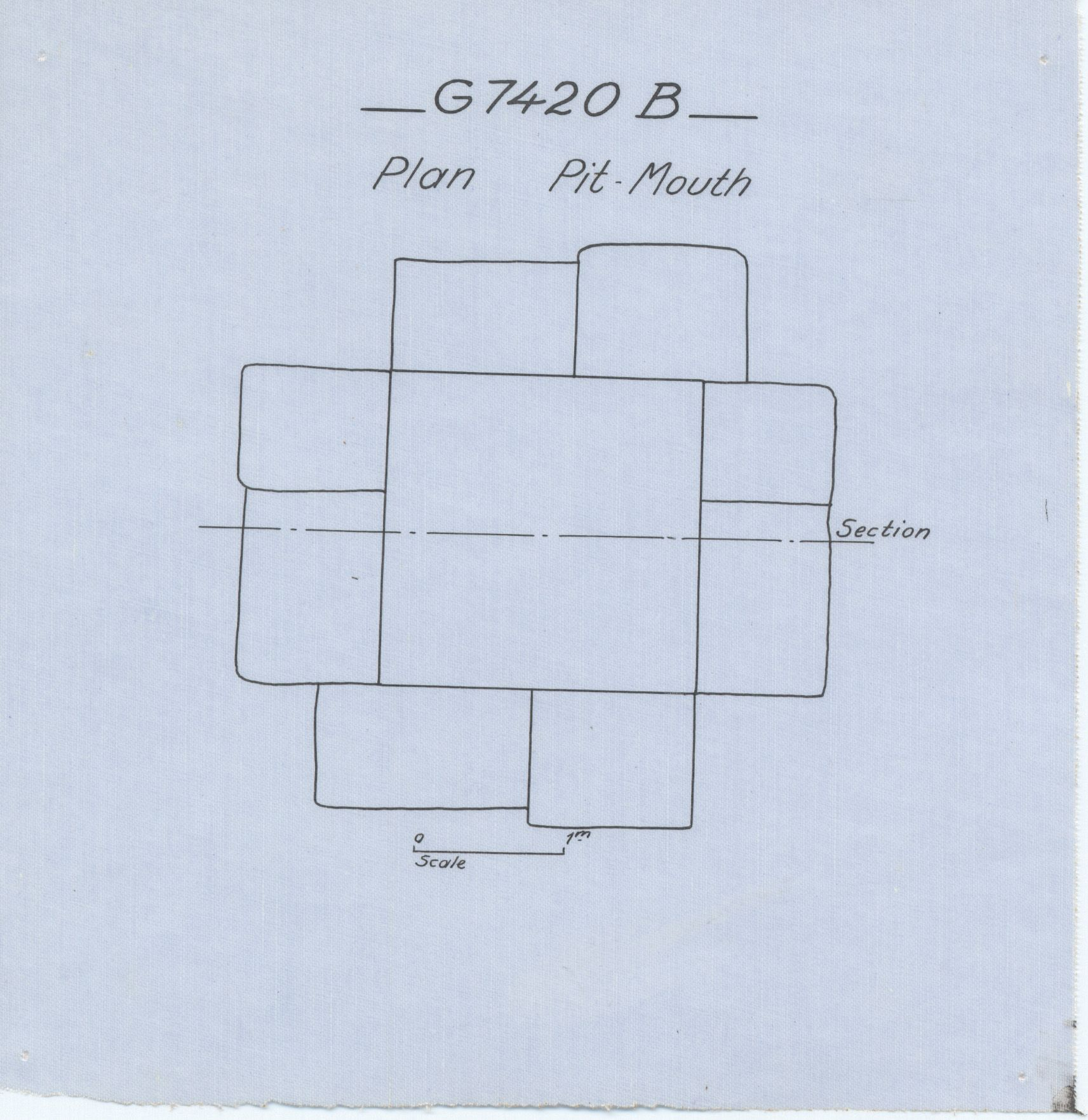 Maps and plans: G 7410-7420: G 7420, Shaft B