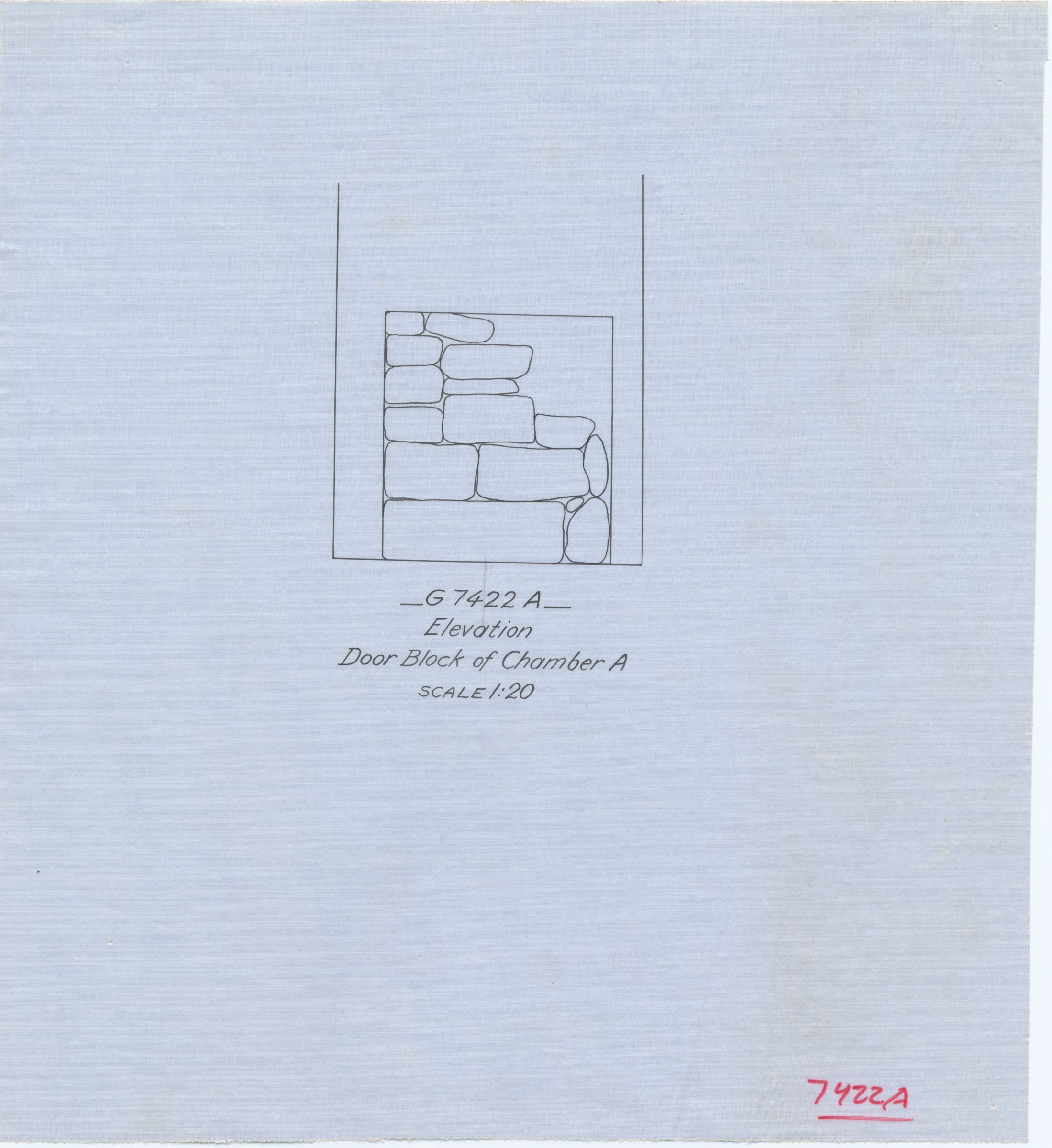 Maps and plans: G 7422, Shaft A