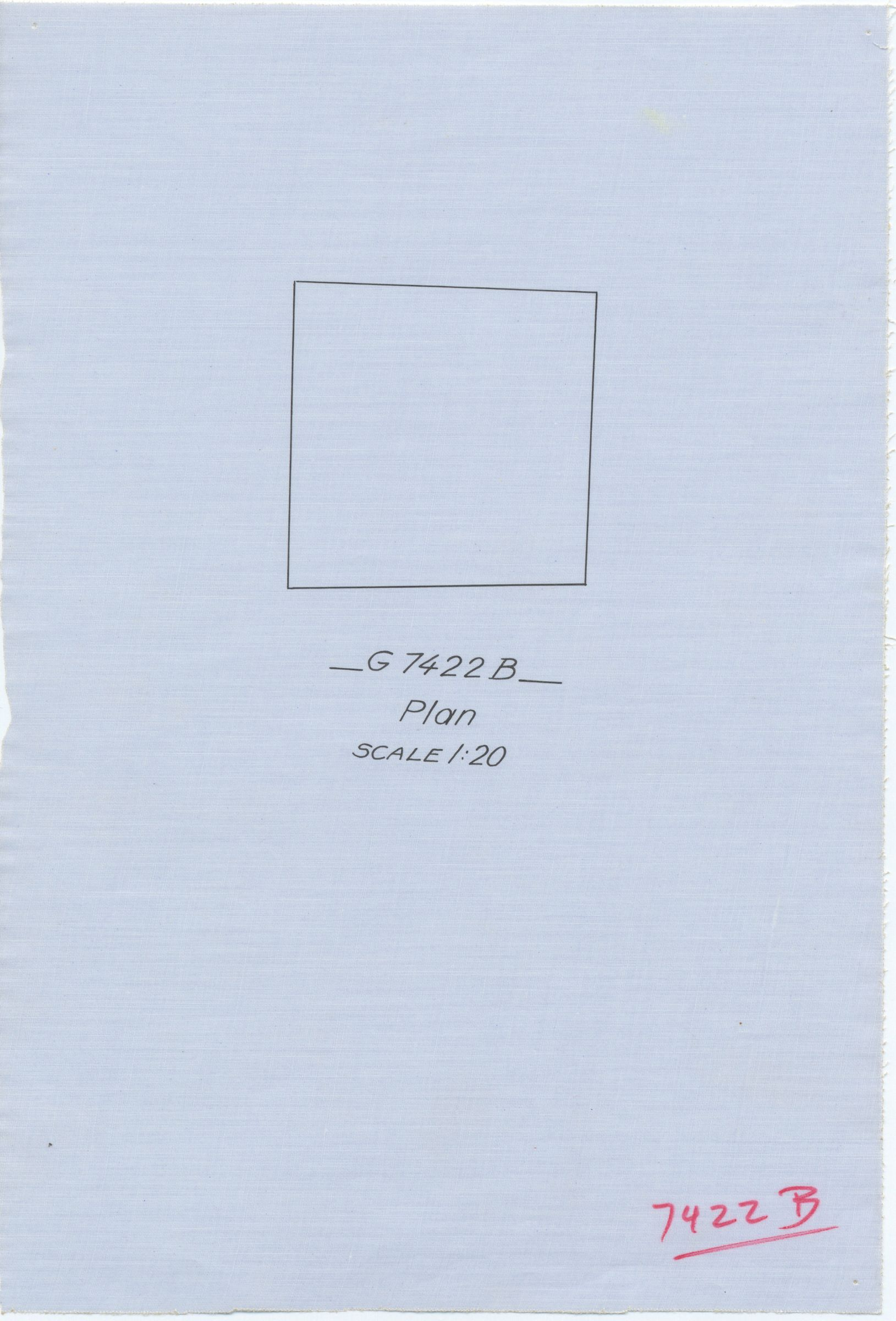 Maps and plans: G 7422, Shaft B