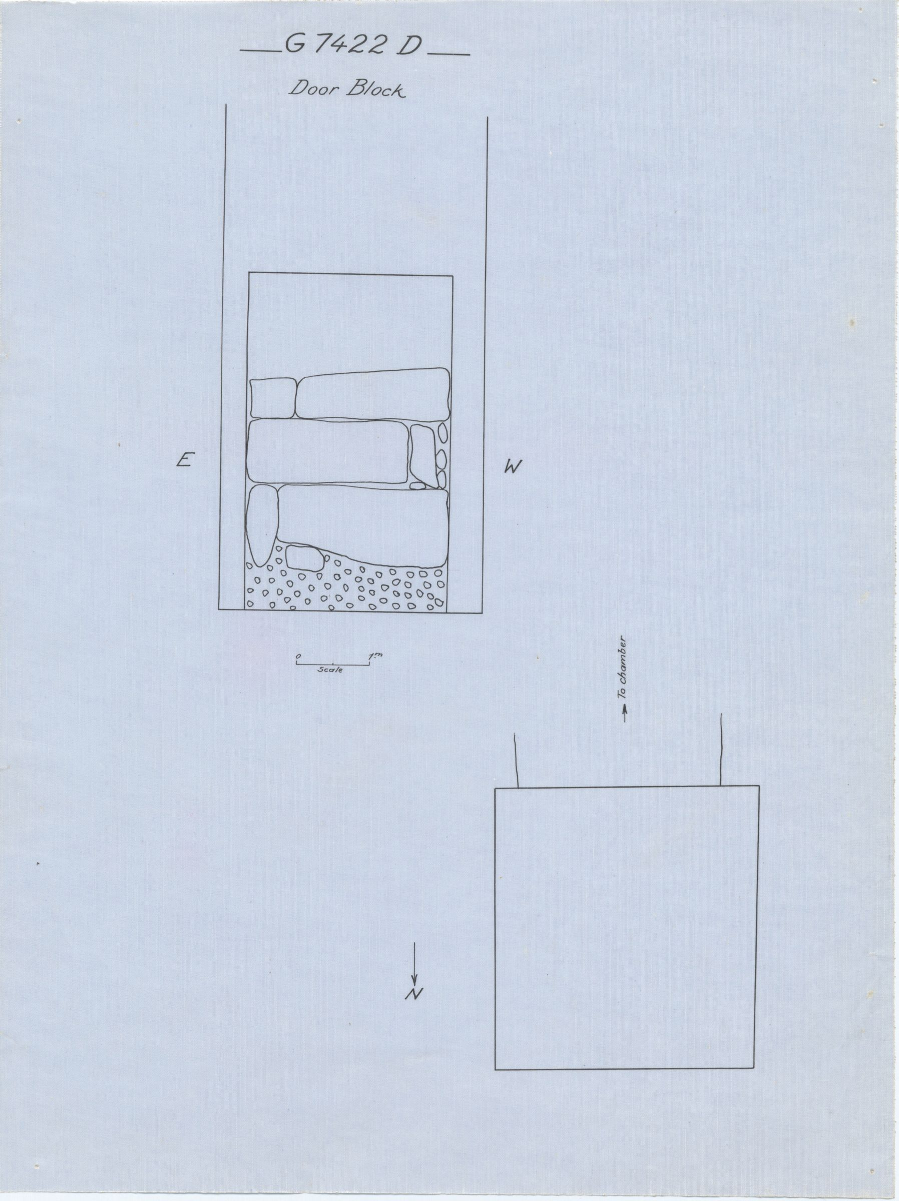 Maps and plans: G 7422, Shaft D