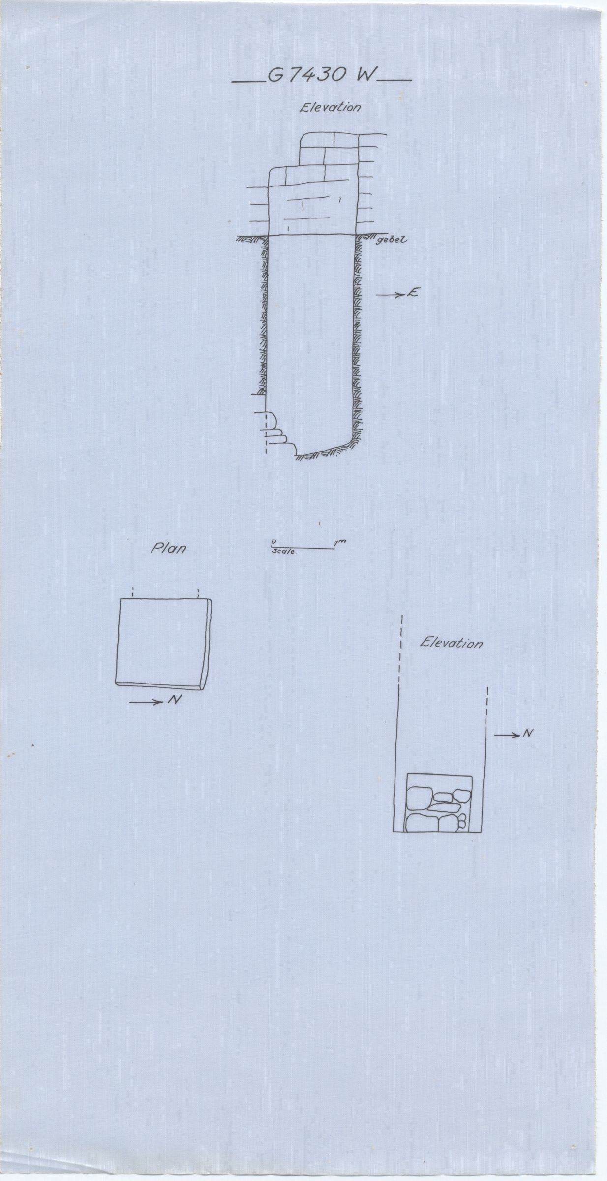 Maps and plans: G 7430, Shaft W (= G 7441)
