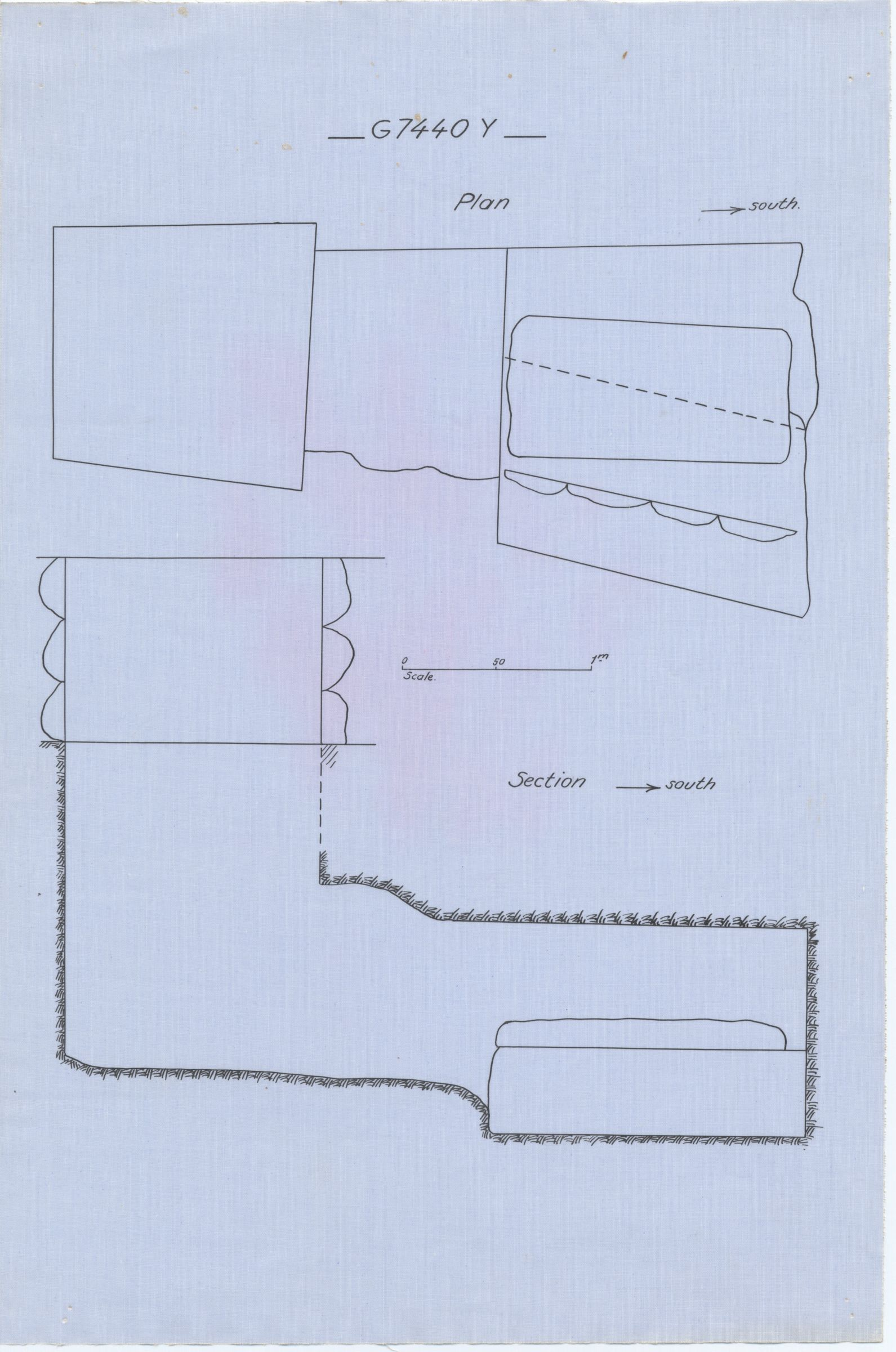Maps and plans: G 7440, Shaft Y (= G 7441 )