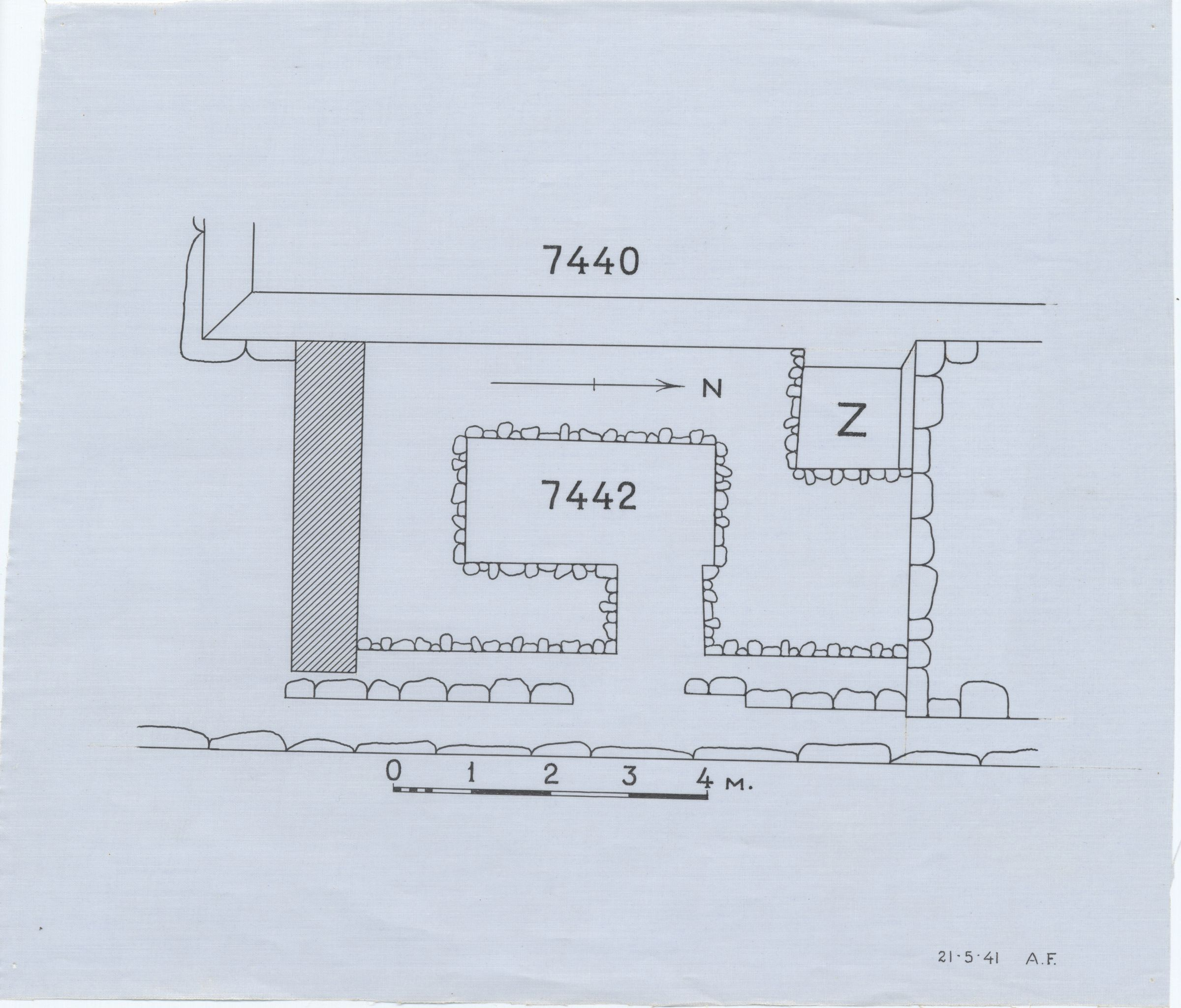 Maps and plans: Plan of G 7442, with position of G 7430-7440: G 7440