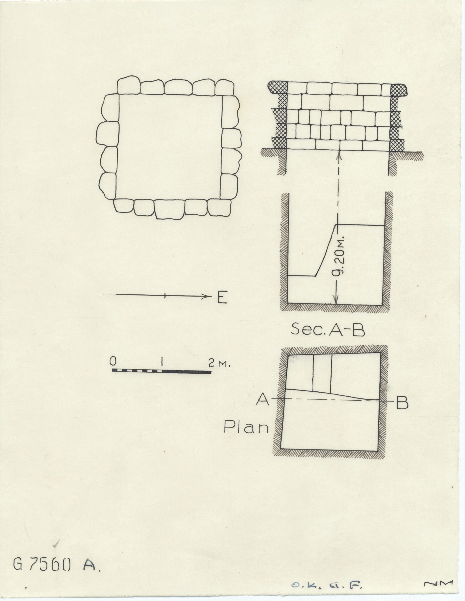 Maps and plans: G 7560, Shaft A